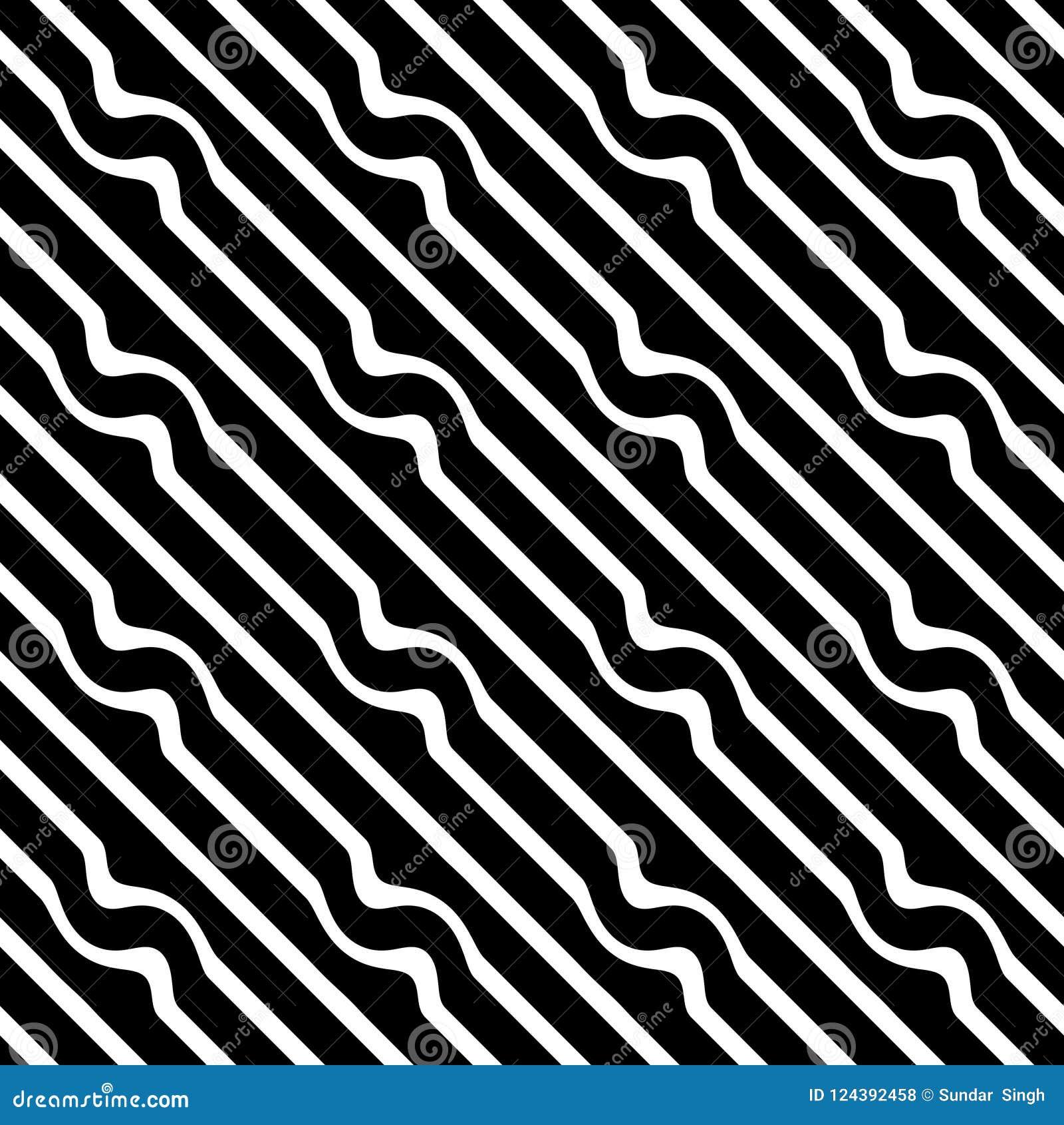 Sömlösa diagonala linjer svartvit modell för vektor abstrakt bakgrundswallpaper också vektor för coreldrawillustration Räkningar