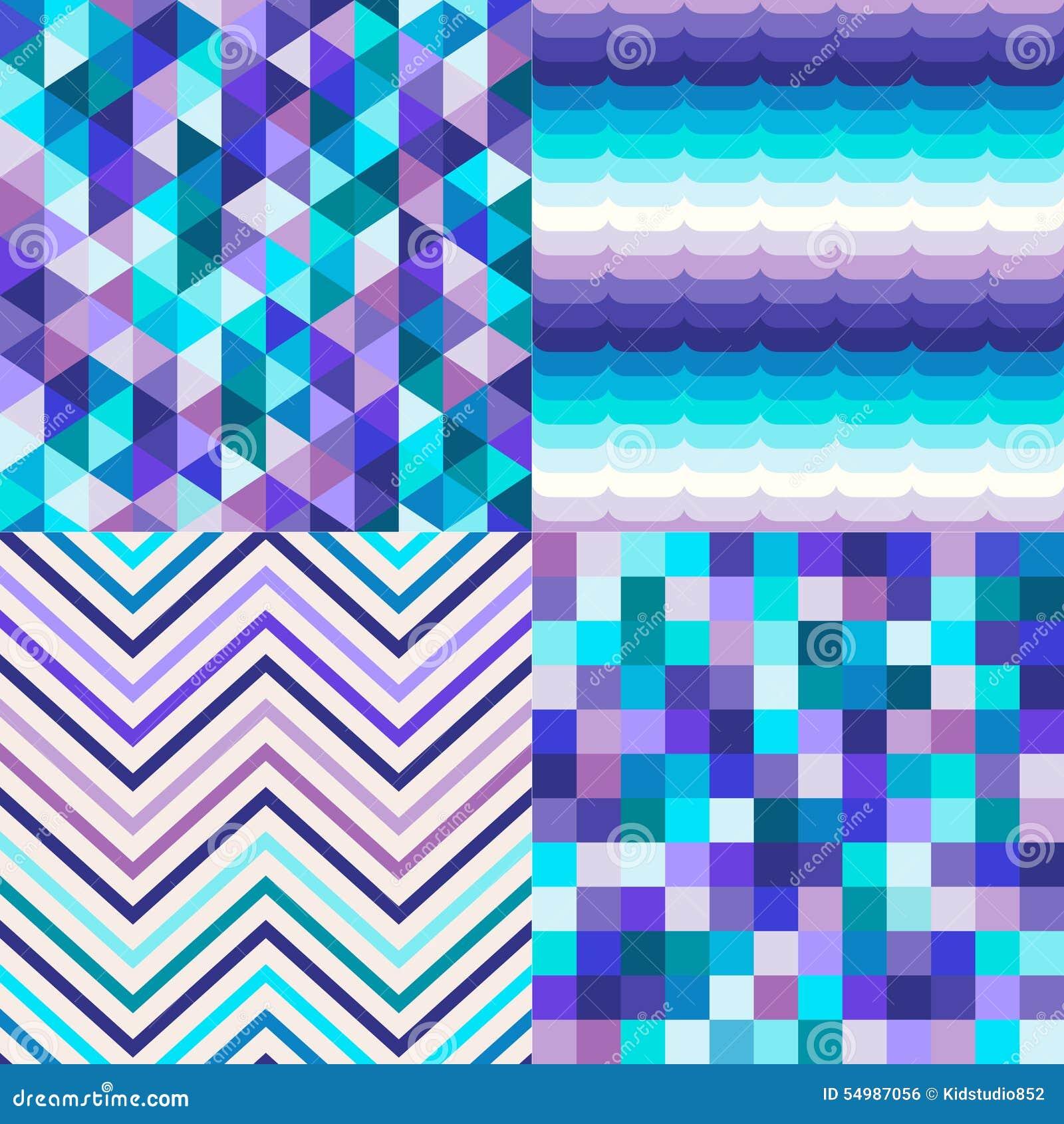 Sömlösa flerfärgade tegelplattor texturerade bakgrund