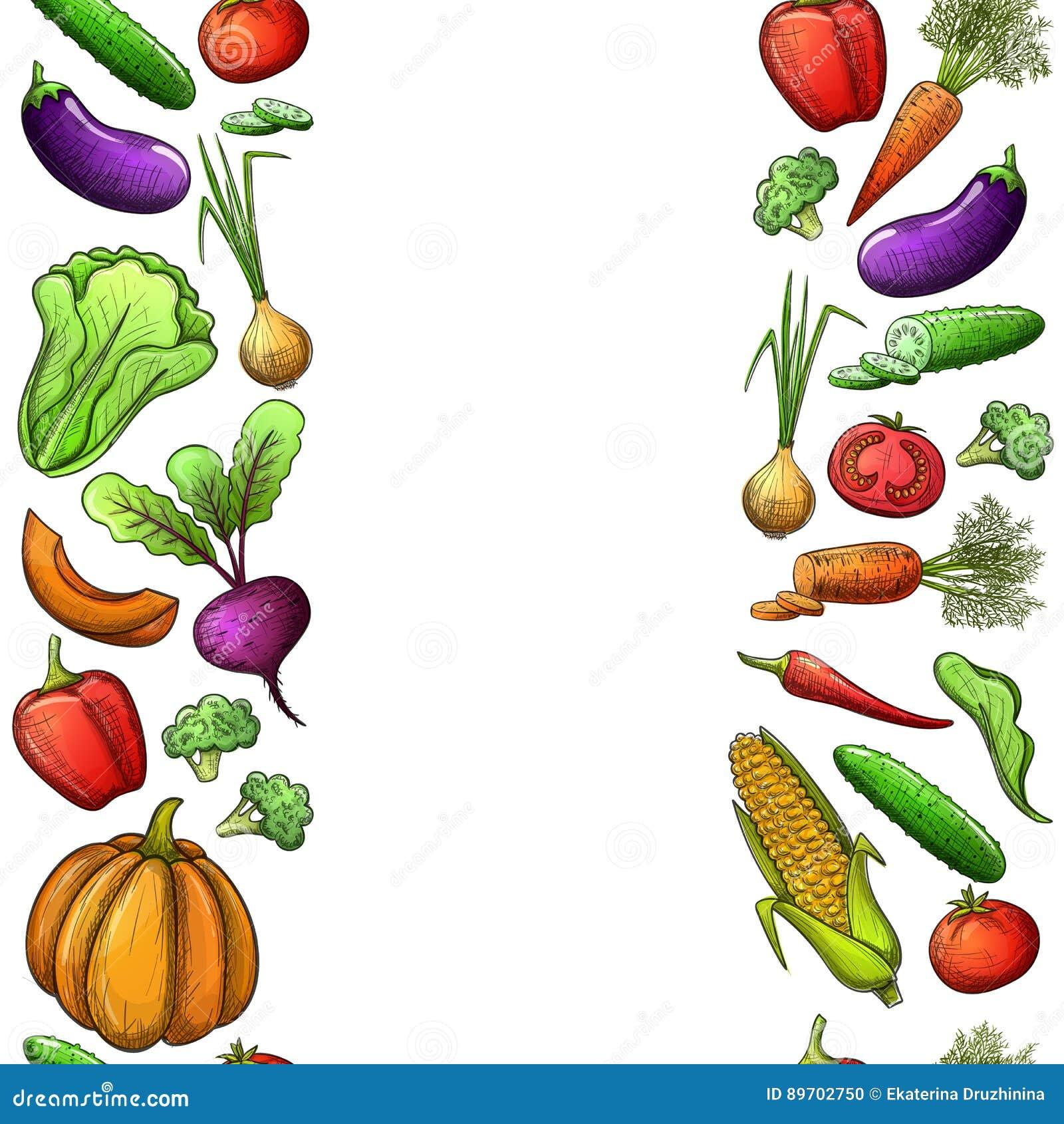 Sömlösa gränser av grönsaker