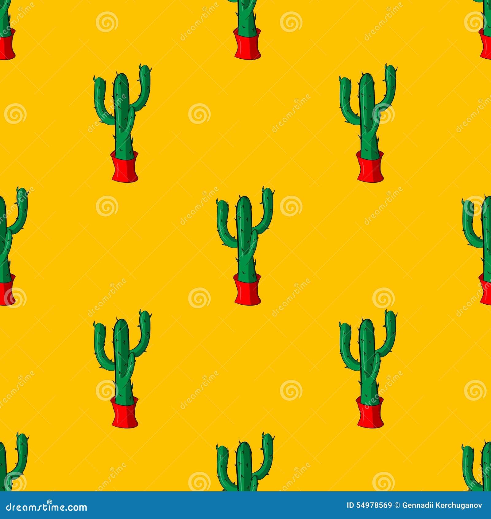 Sömlösa retro kaktusväxter för den hem- illustrationbakgrundsmodellen i vektor