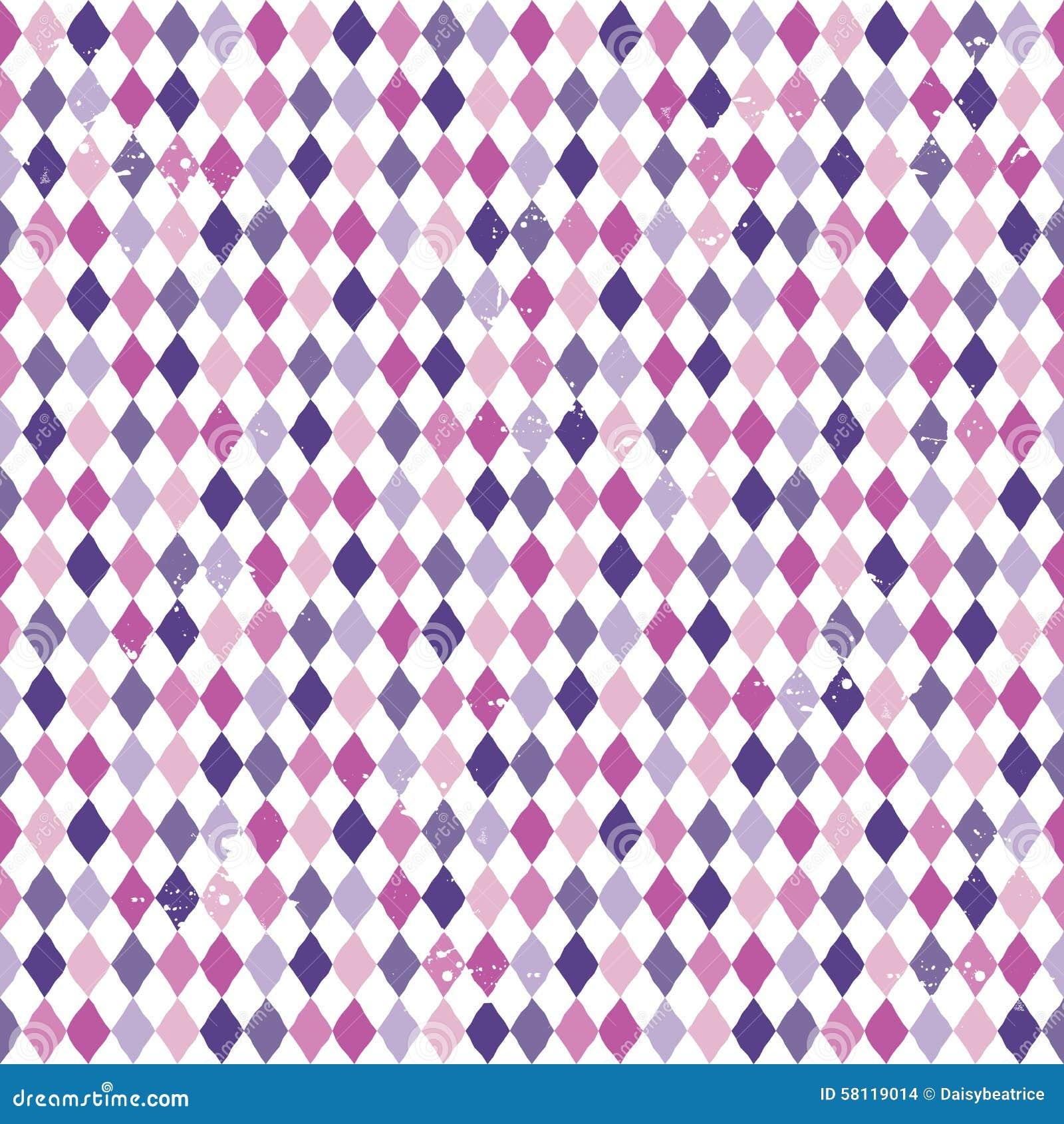 Sömlösa rosa färger för lilor för argylediamantbakgrund