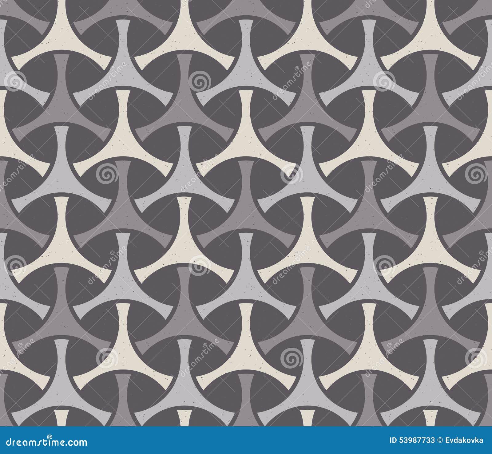 Sömlöst geometriskt tryck Det kan vara nödvändigt för kapacitet av designarbete