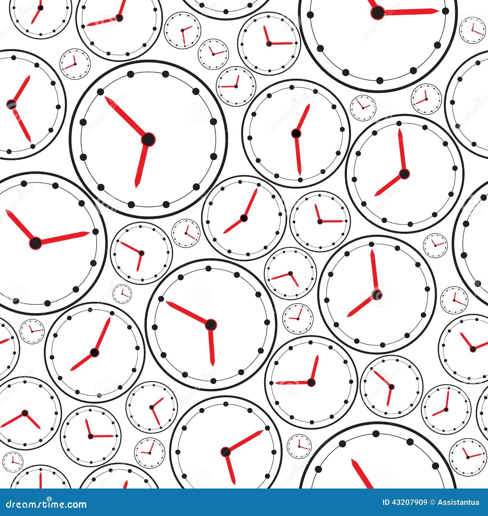 Download Sömlöst Klockamodellen För Bakgrund Vektor Vektor Illustrationer - Illustration av idérikt, prydnad: 43207909