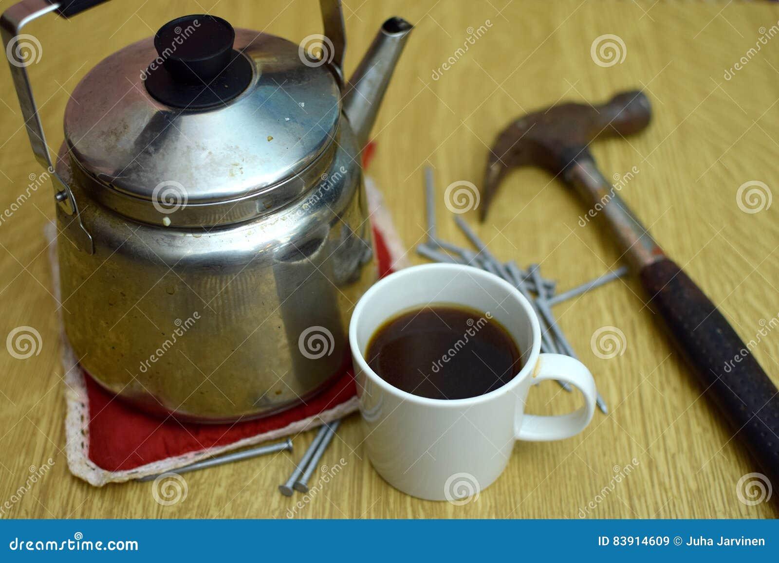 Söt kopp för giffel för bakgrundsavbrottskaffe
