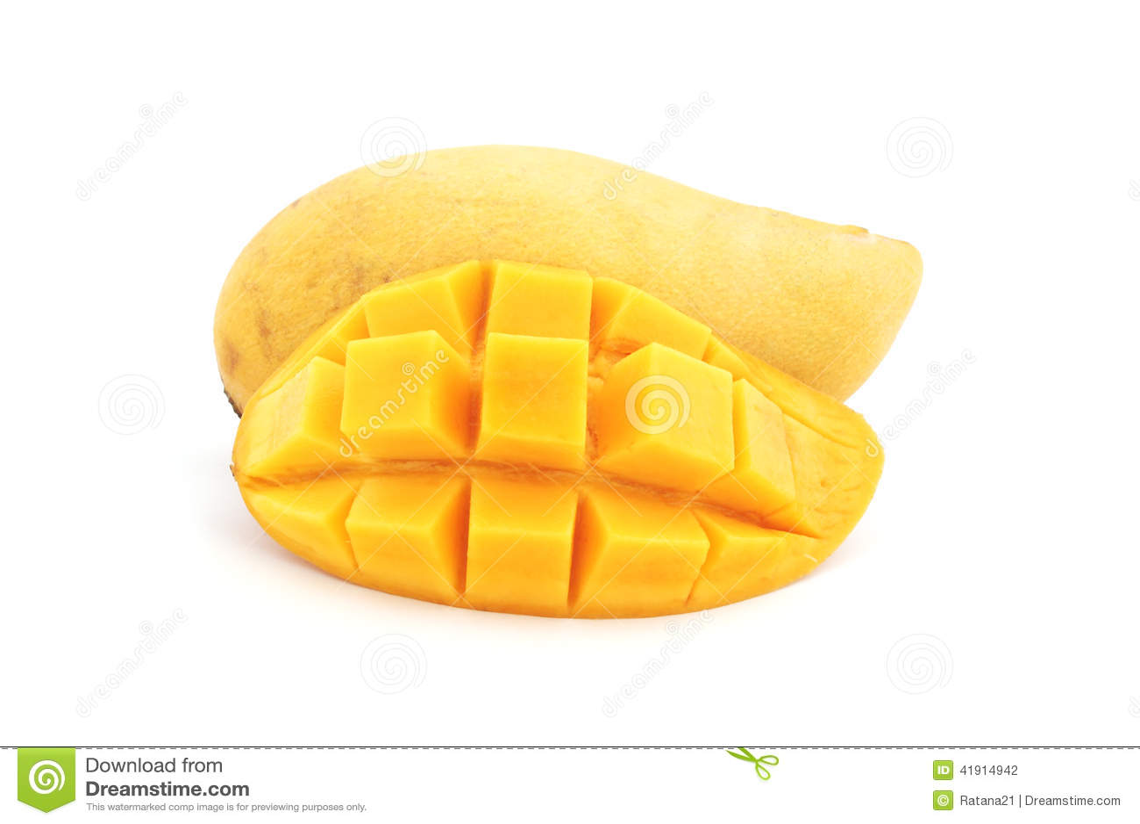 Söt mogen gul mango