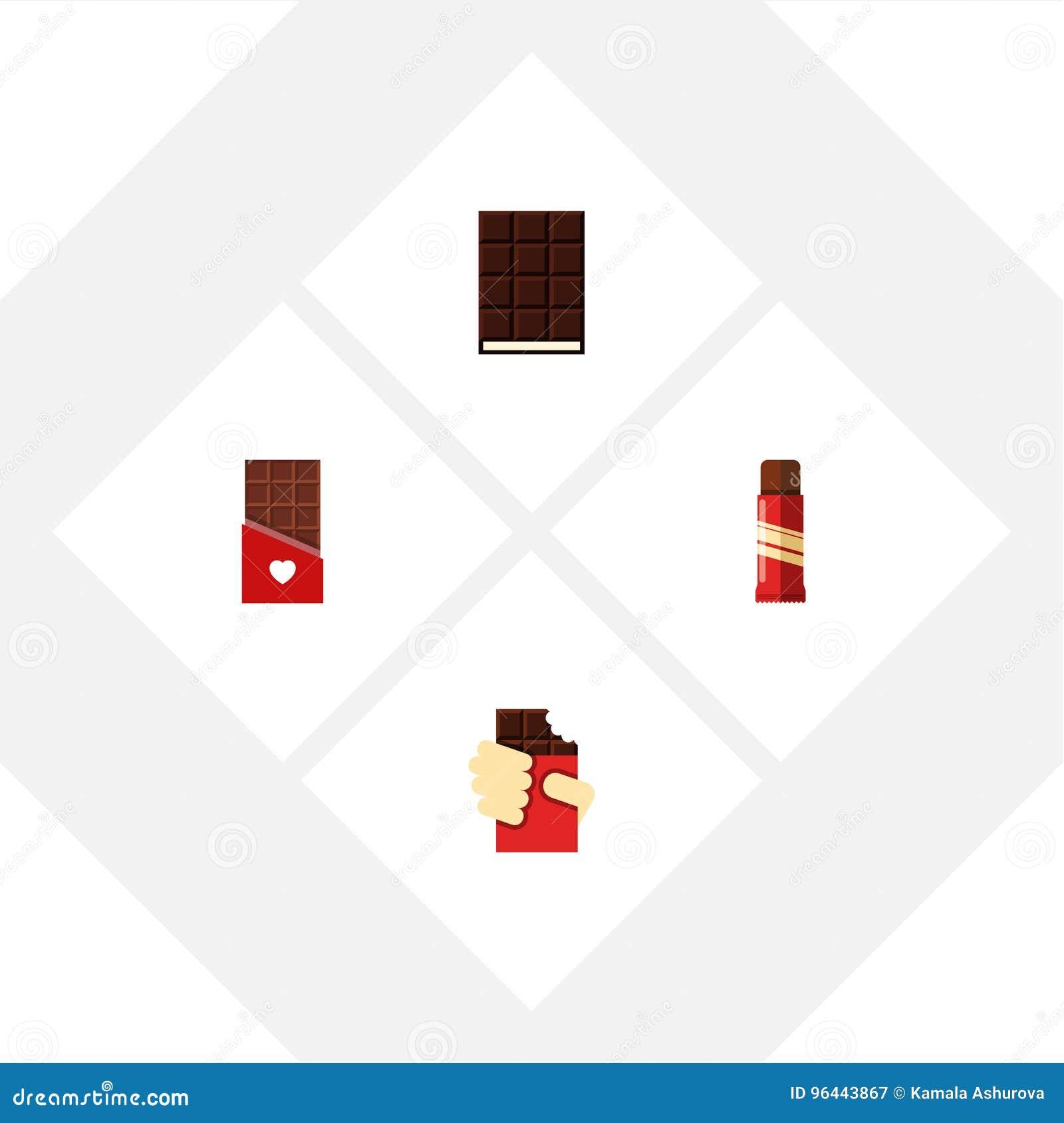 Söt uppsättning för plan symbol av sötsak, formad ask, efterrätt och andra vektorobjekt Inkluderar också efterrätten, confectione