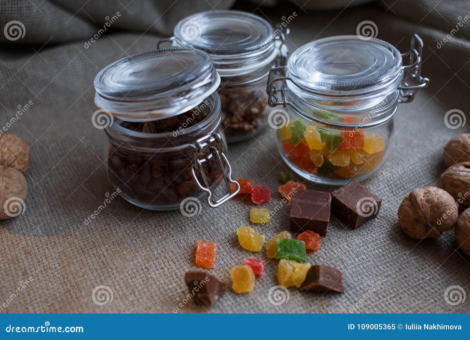 Sötsaker i glass krus