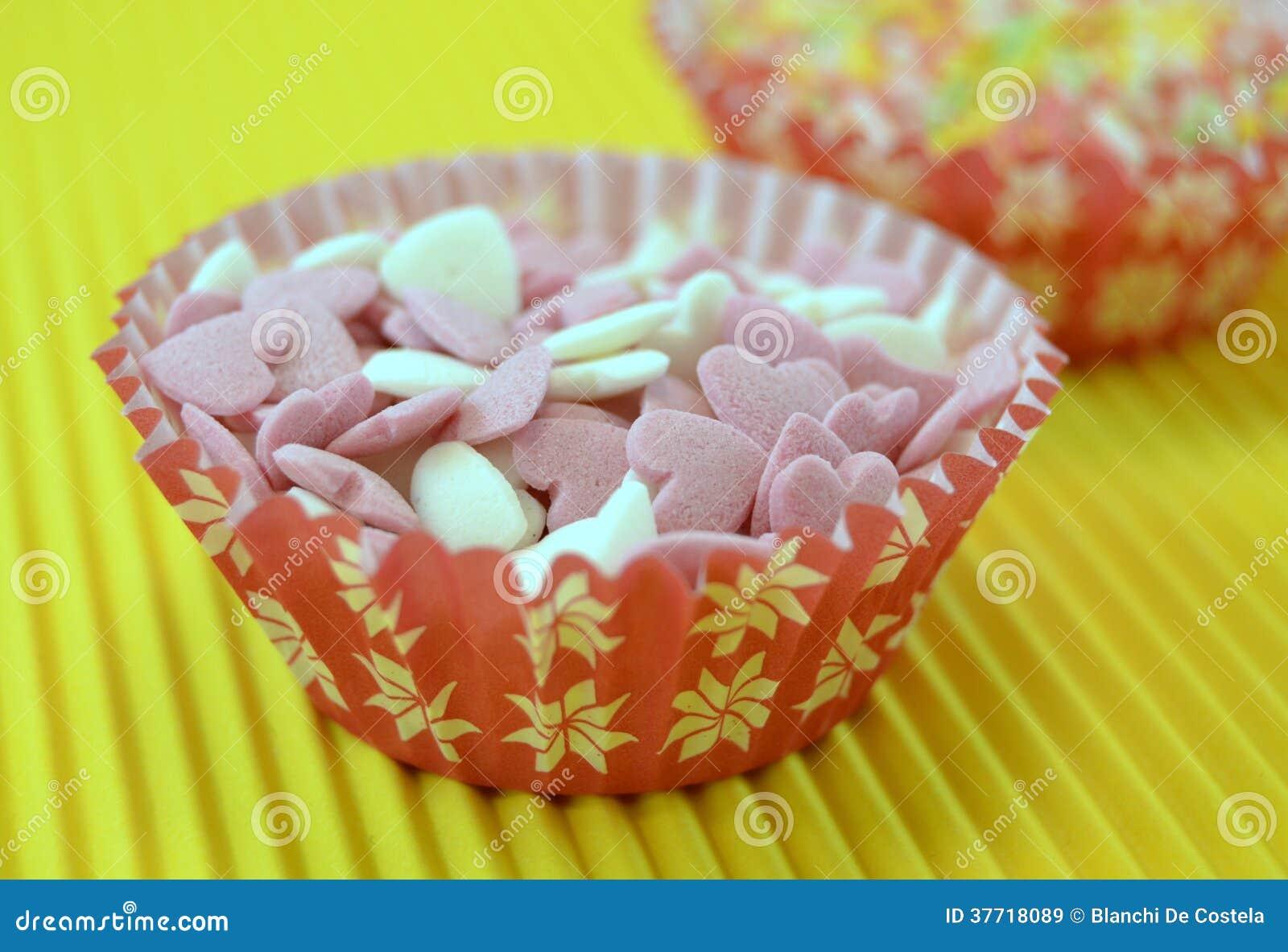 Sussigkeiten Zum Von Kuchen Zu Verzieren Stockbild Bild Von