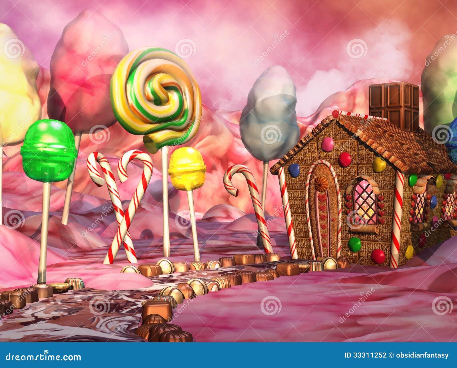 Süßigkeitslandschaft