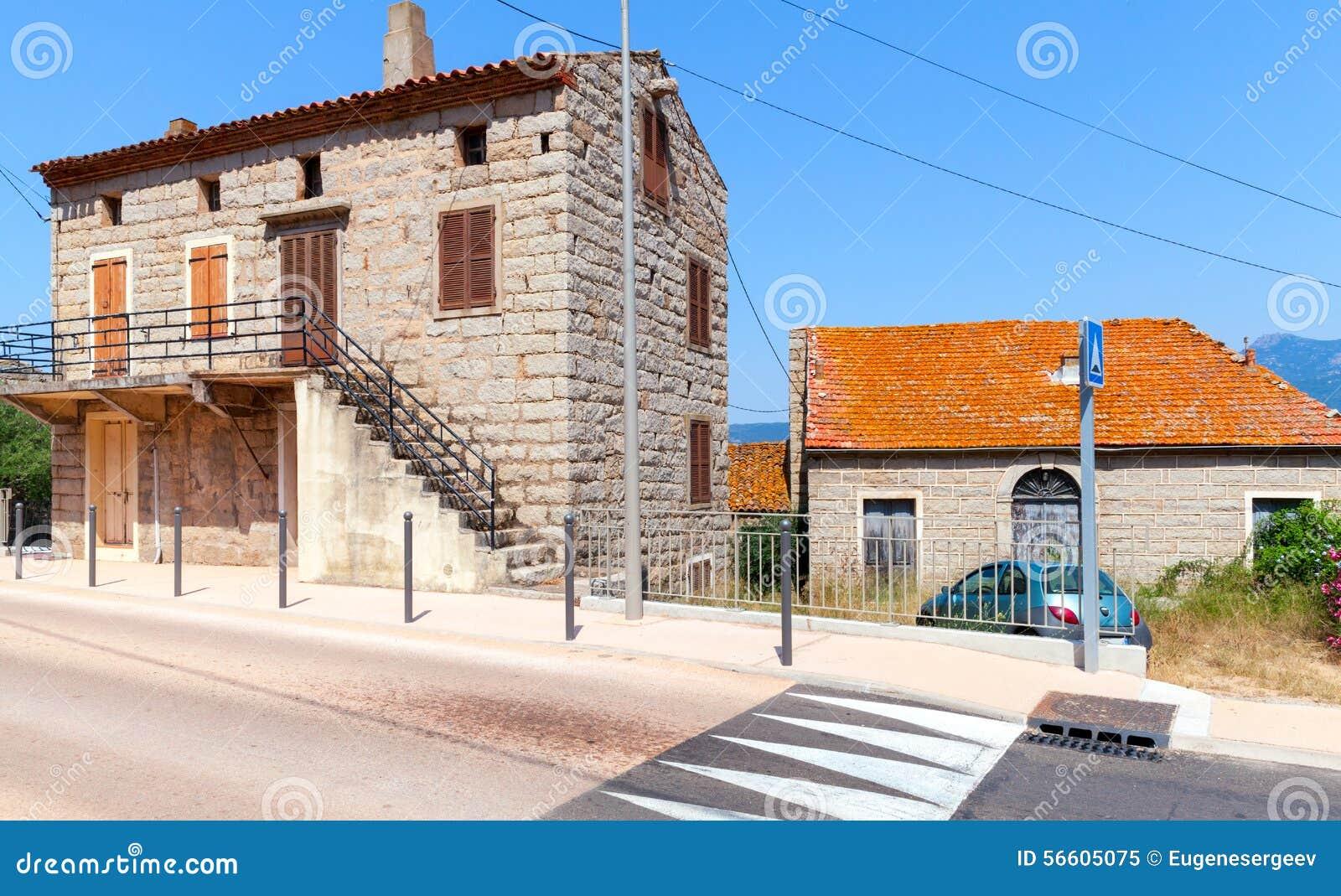Süd-Korsika Alte Rurar Häuser Gemacht Vom Stein Stockbild - Bild von ...