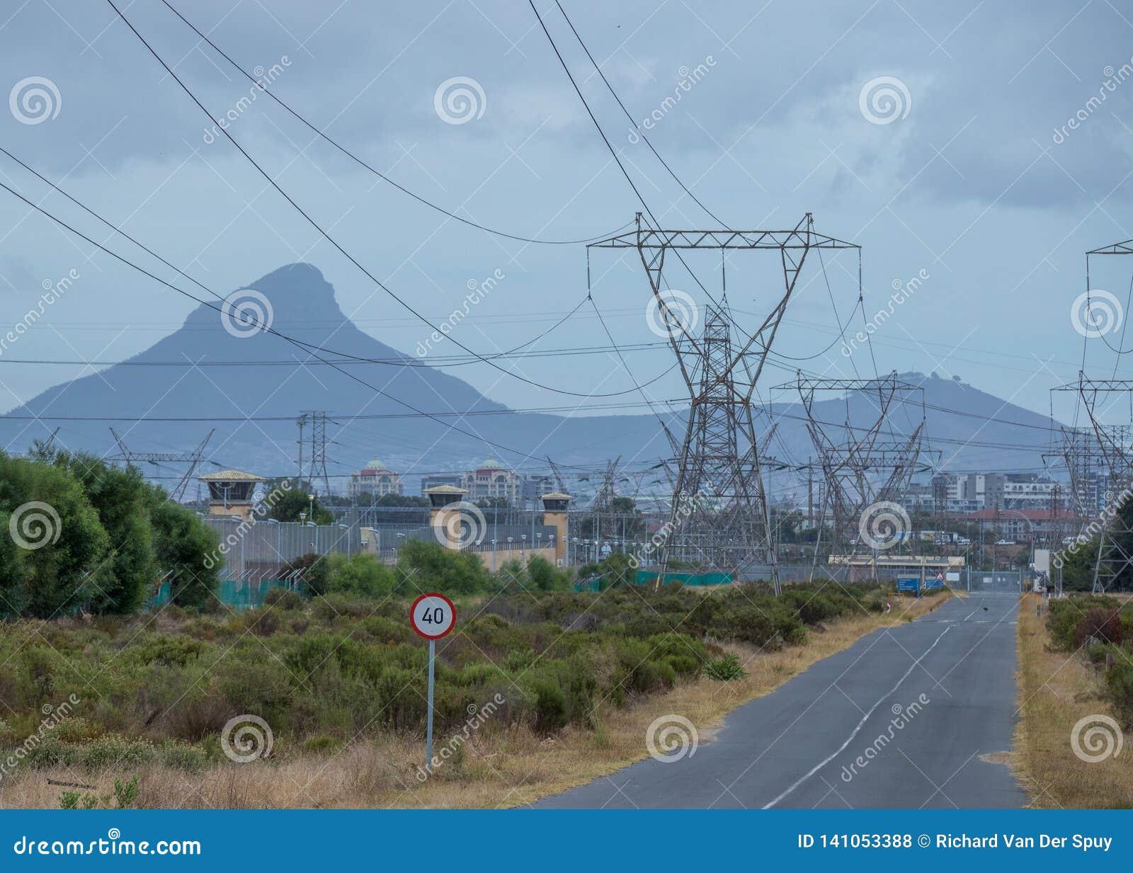 Südafrikanische Energie für den praktischen Gebrauch vor Einsturz