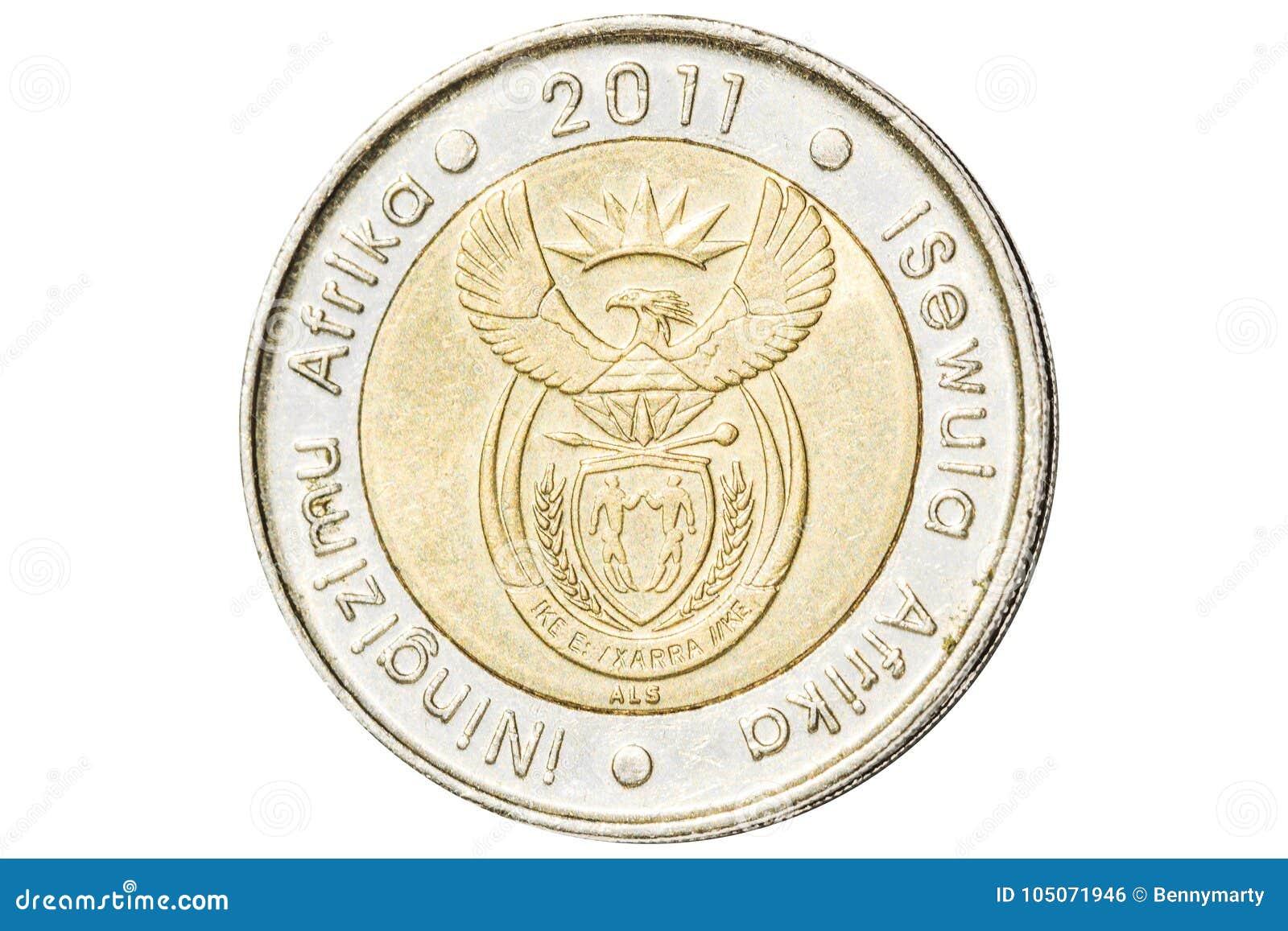 Südafrikanische fünf-Rand-Münze