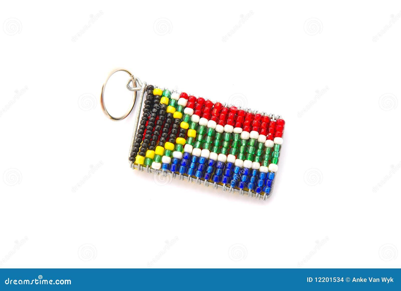 Südafrikanischer Markierungsfahnenschlüsselring
