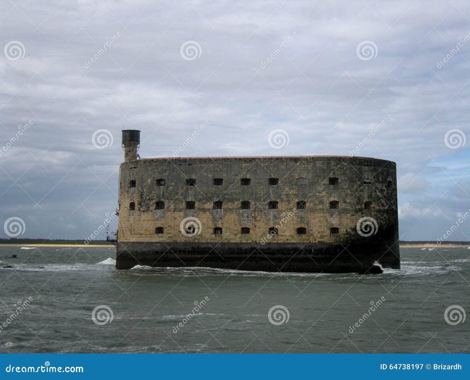 Sławna fort boyard wyspa, Francja