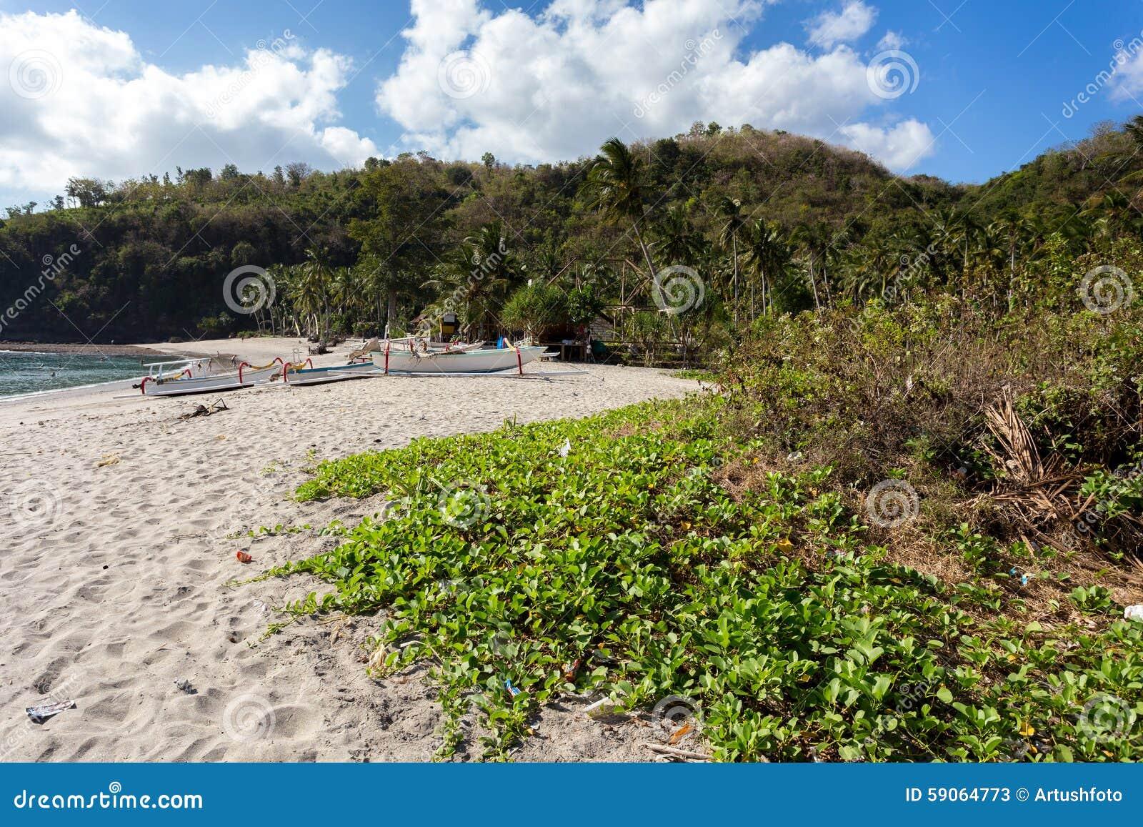 Sławna kryształ plaża przy Nusa Penida wyspą