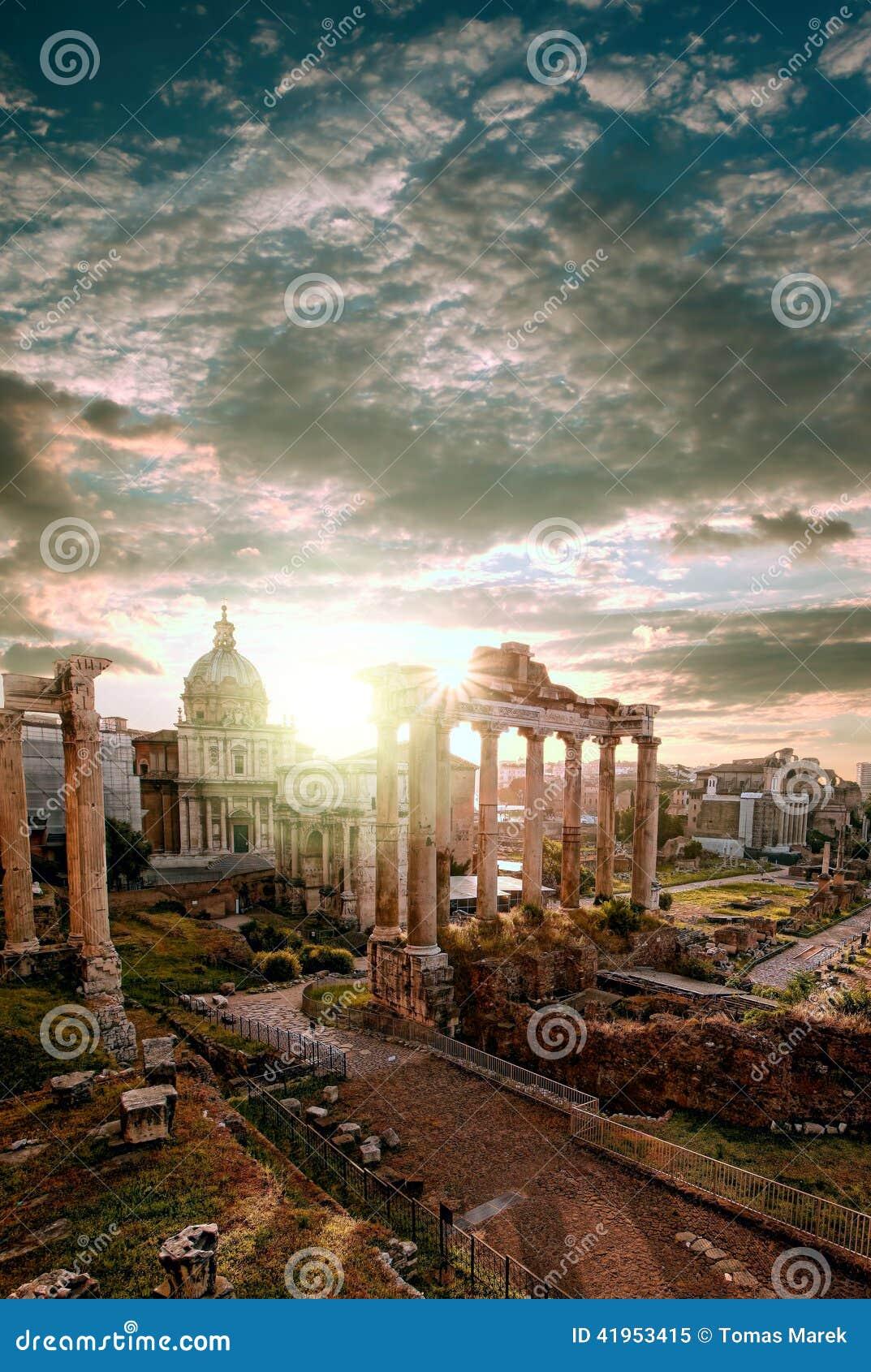 Sławne rzymianin ruiny w Rzym, stolica Włochy