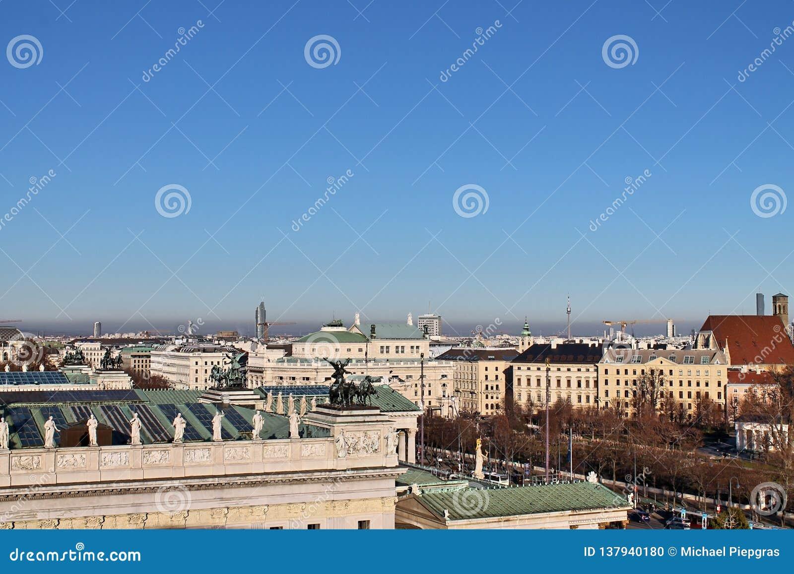 Sławni budynki i architektura Wiedeń w Austria Europa