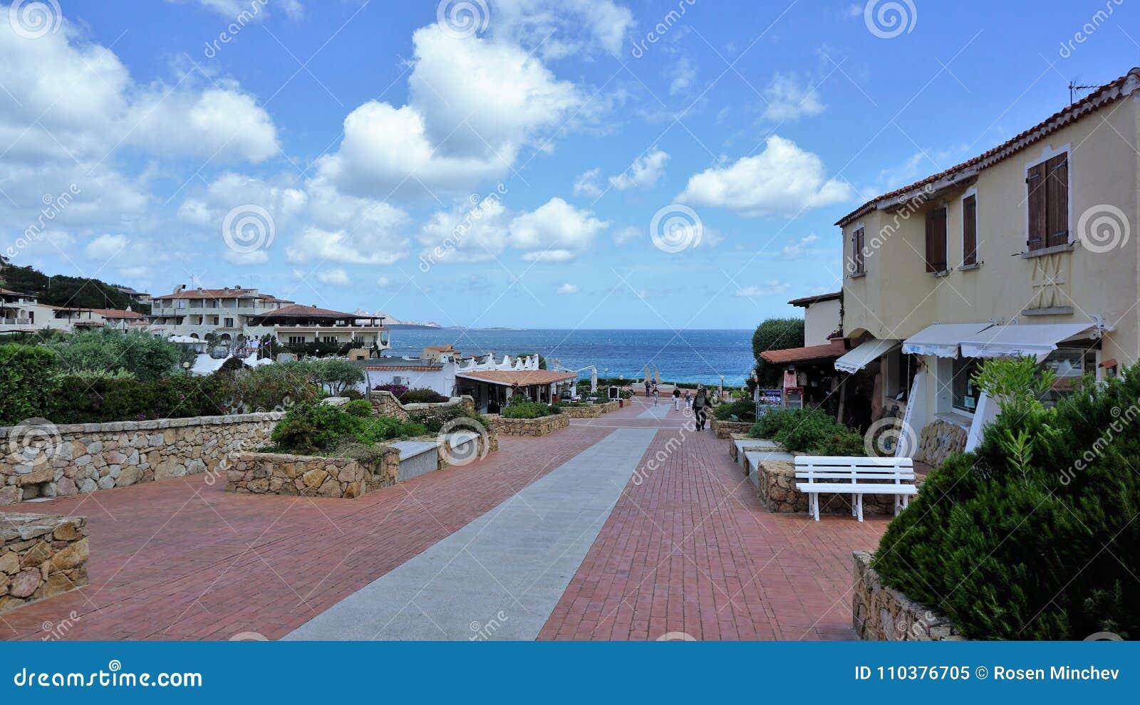 Sławny Costa Smeralda, Sardinia