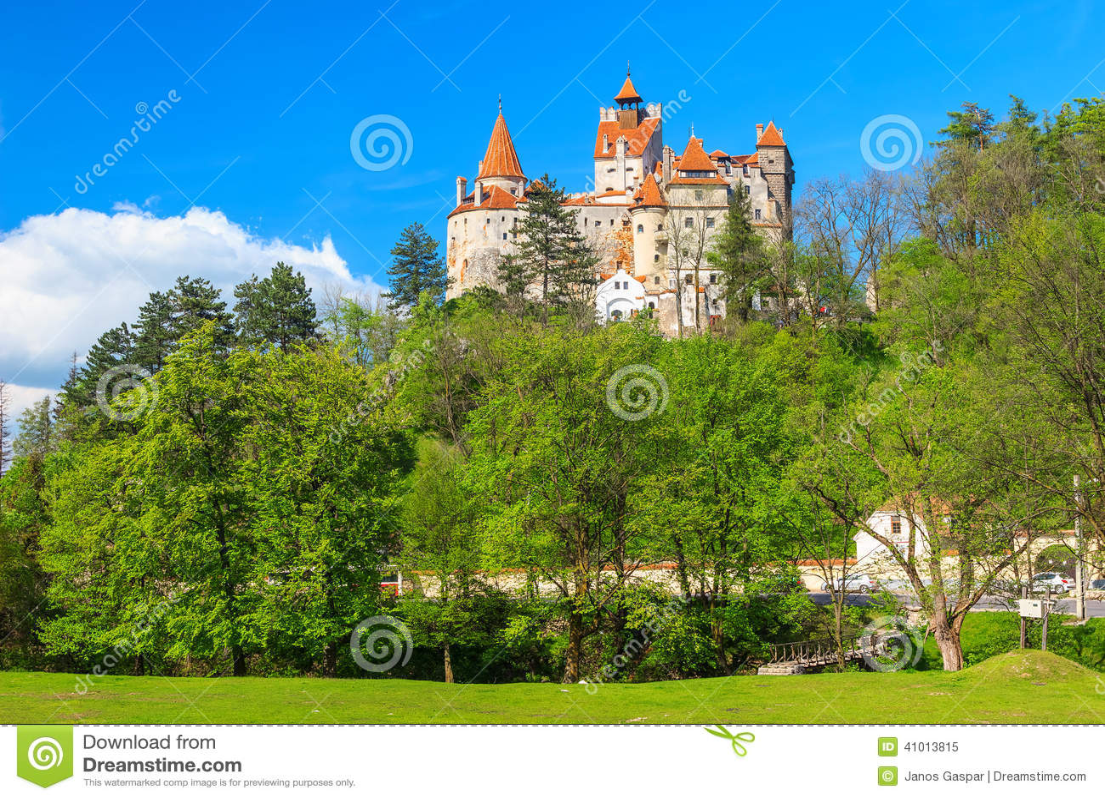 Sławny Dracula kasztel, otręby, Transylvania, Rumunia