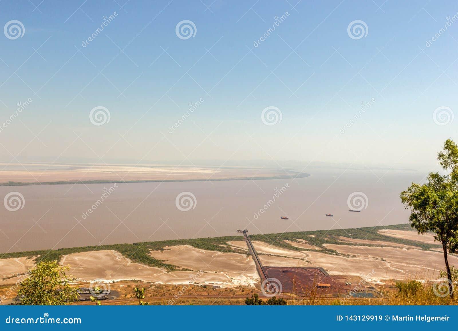 Sławny punkt obserwacyjny w zachodniej australii dokąd pięć rzek majestatyczny spotkanie, zachodnia australia