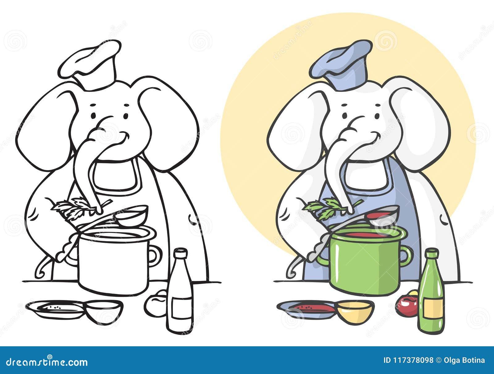 Słoń kucbarska ilustracja