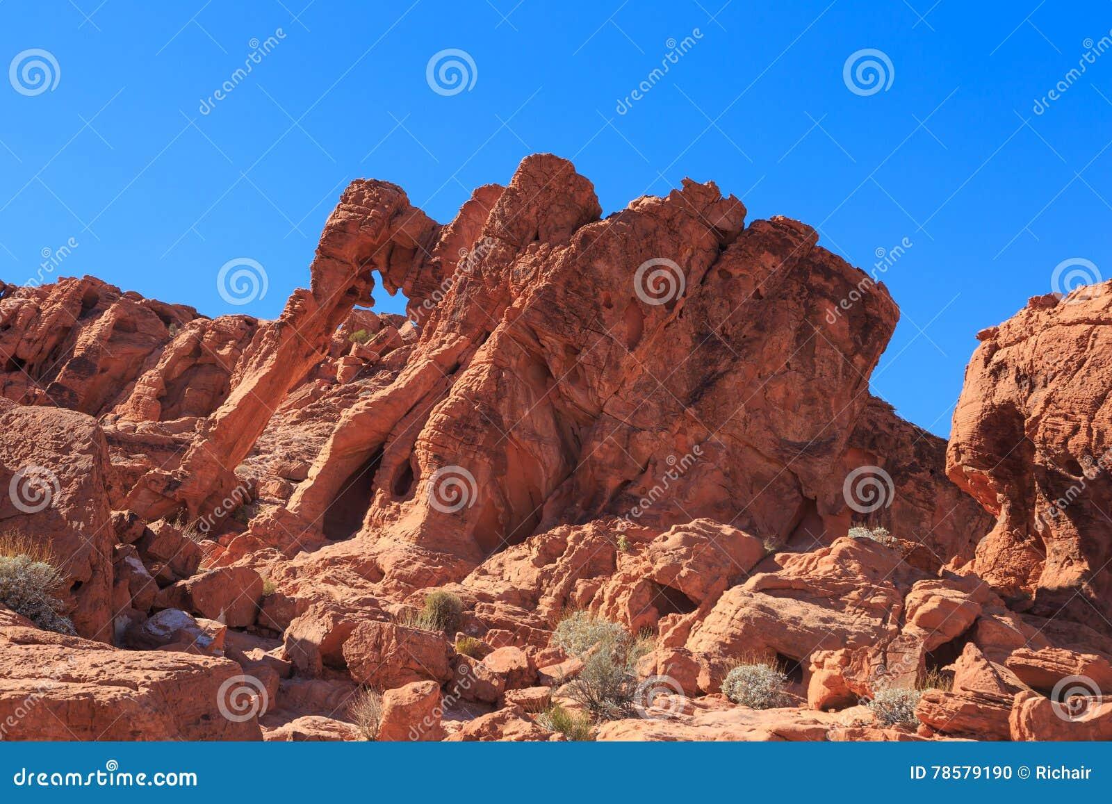 Słoń skała, dolina ogień