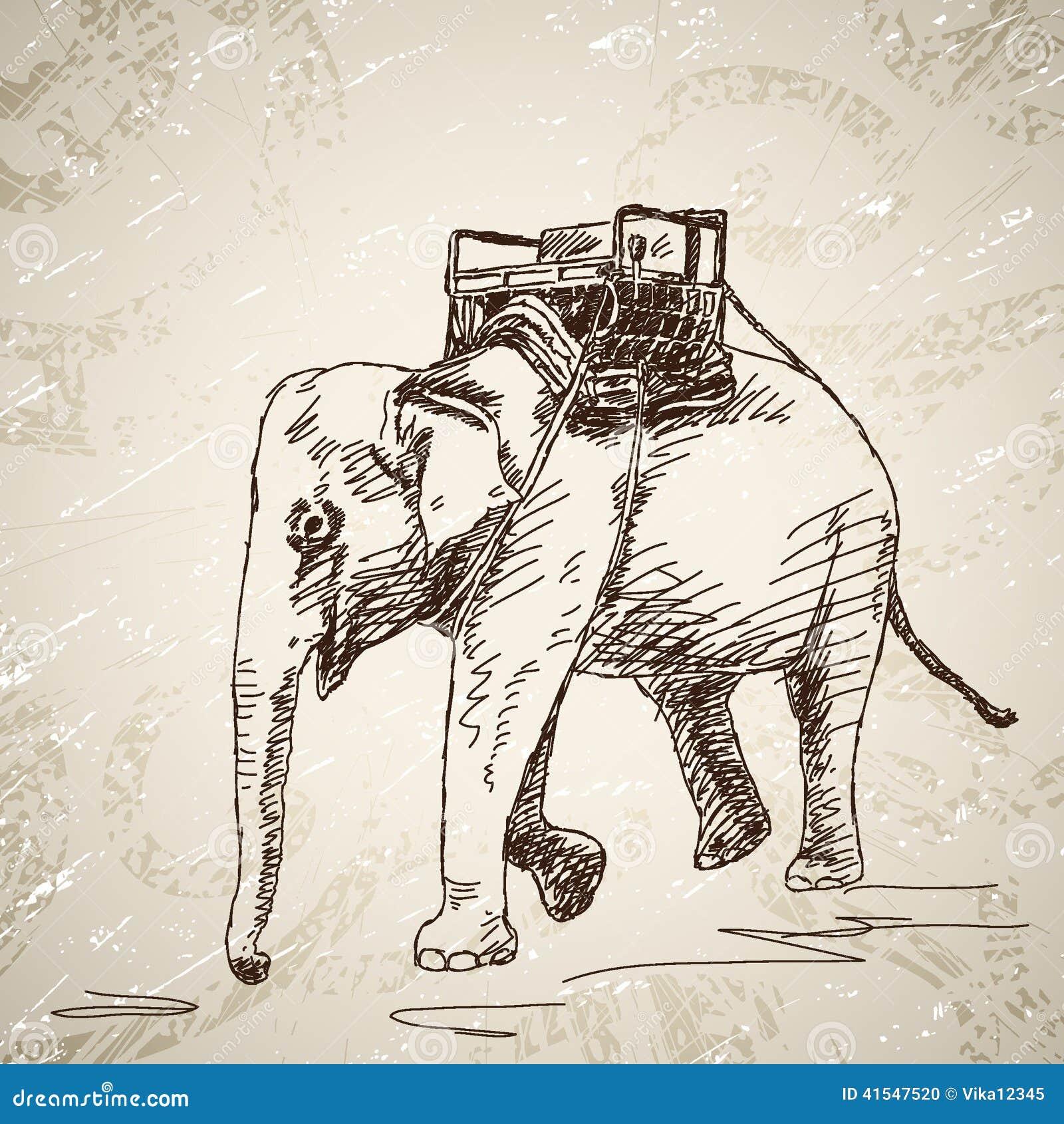Słoń z krzesłem