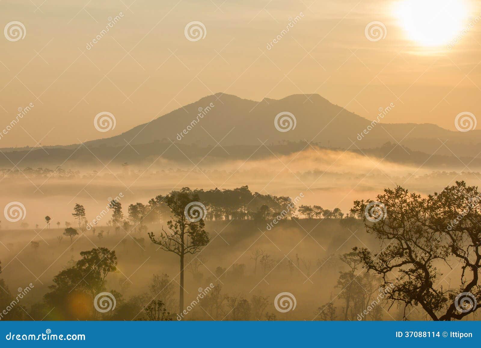 Download Słońce i góra zdjęcie stock. Obraz złożonej z czysty - 37088114