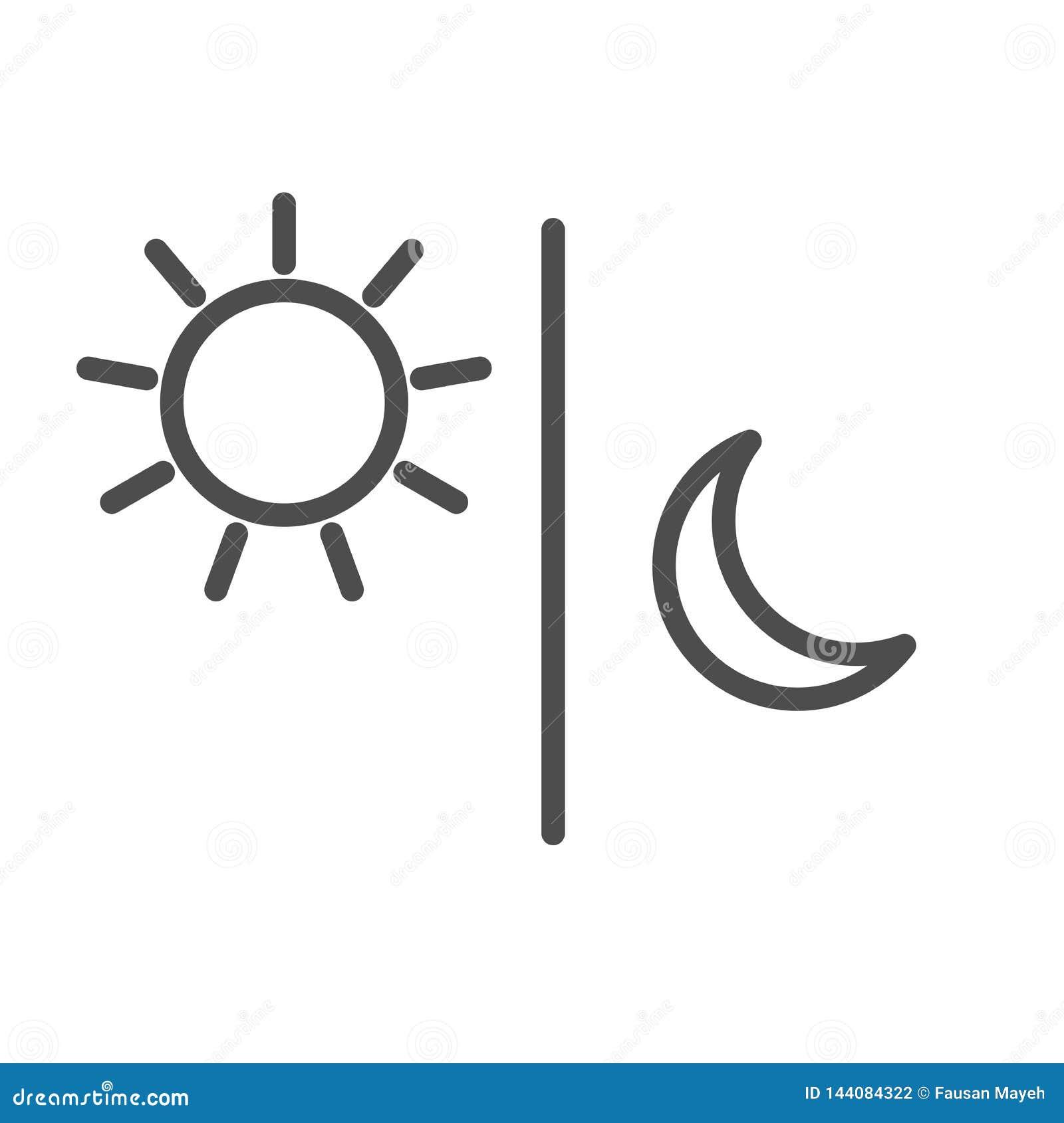 Słońce księżyc ikony ilustracji odosobniony wektor