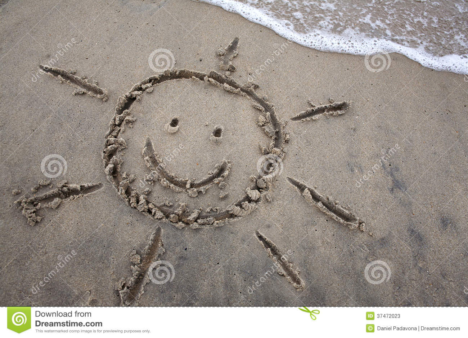 Słońce rysunek W piasku - wiosny przerwa