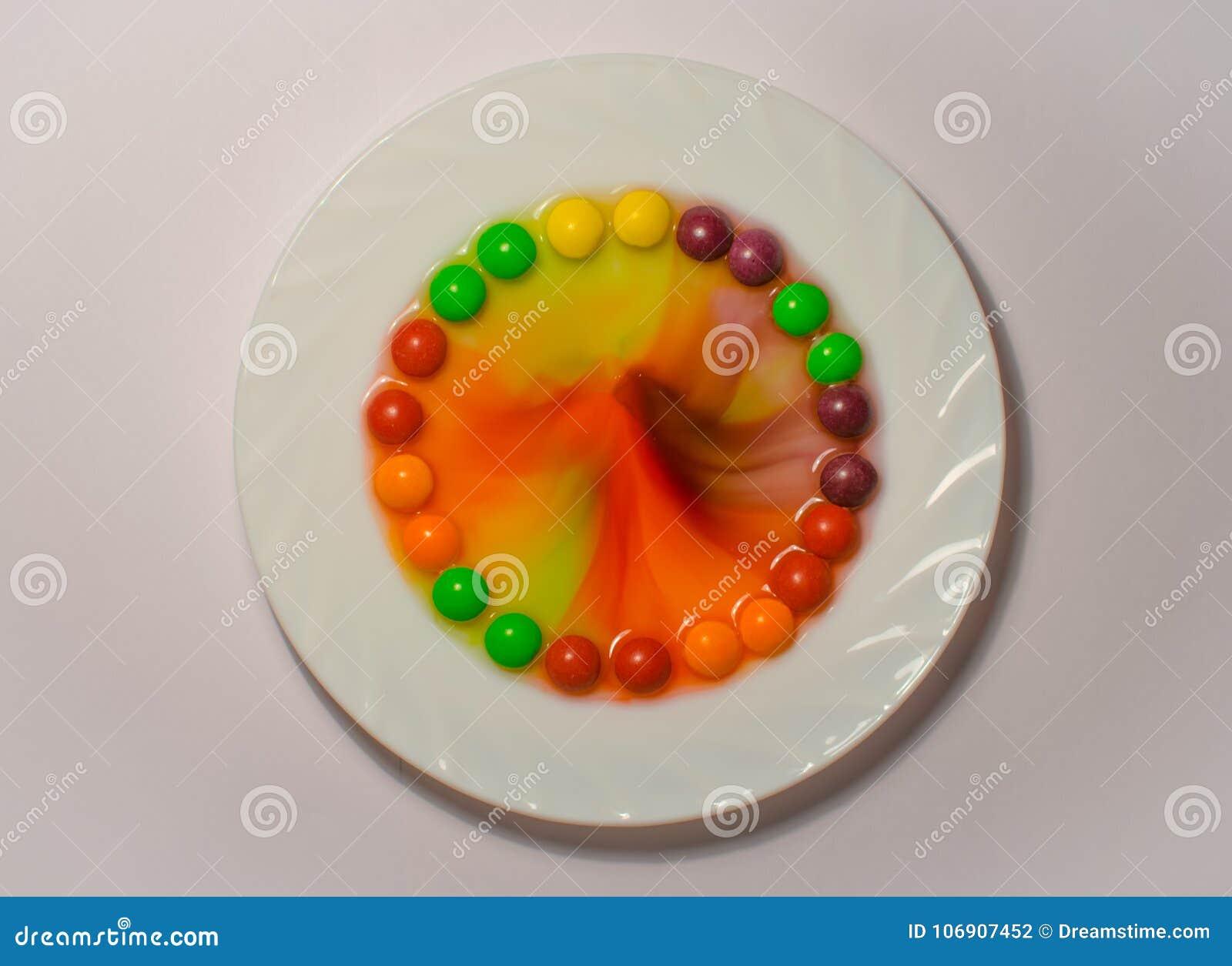Słodki biel zieleni kolor żółty rozdaje teksturę