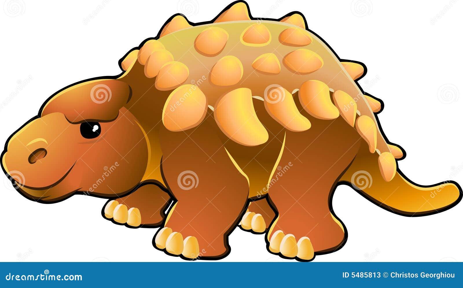 Słodki dinozaur przyjacielski