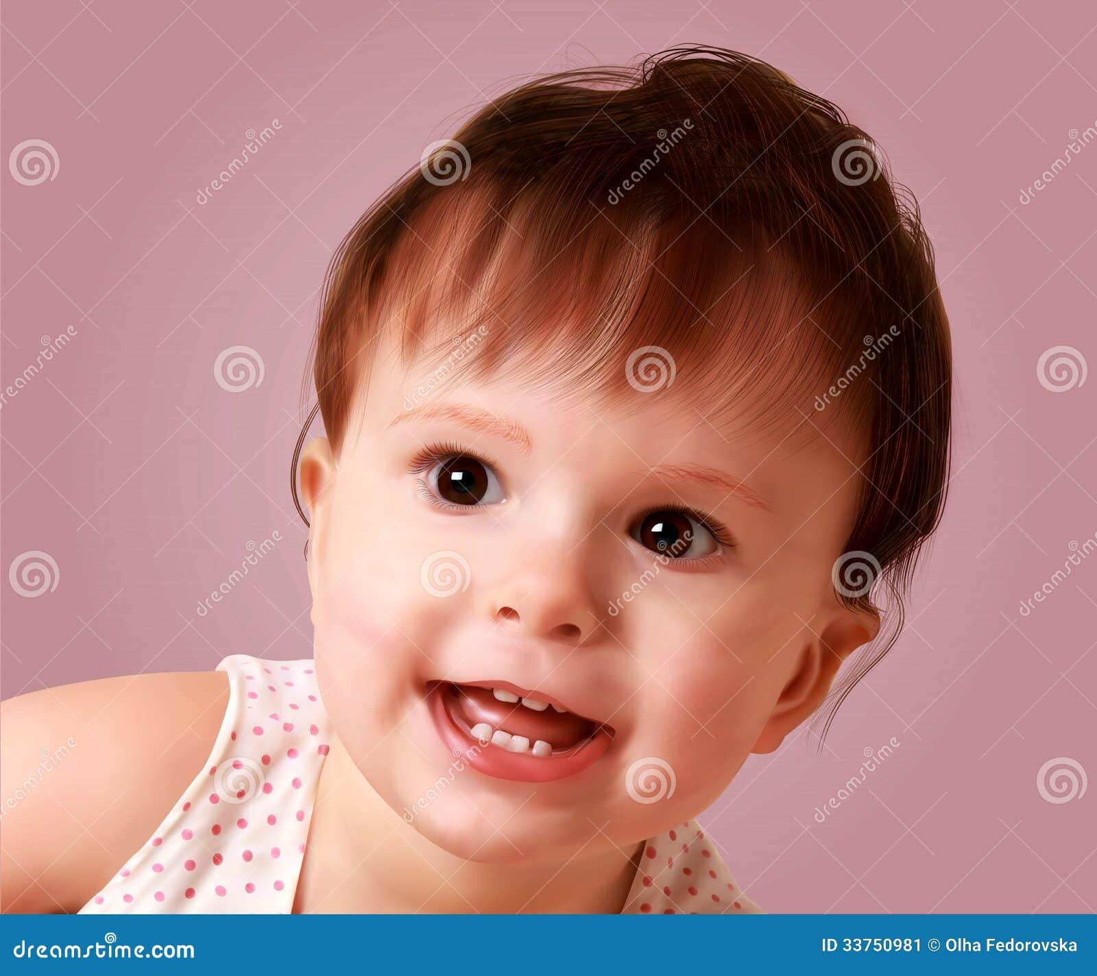 Słodki mały Maryjny portret