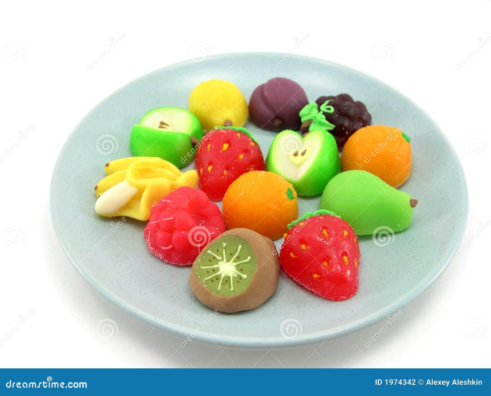 Słodycze, owoce
