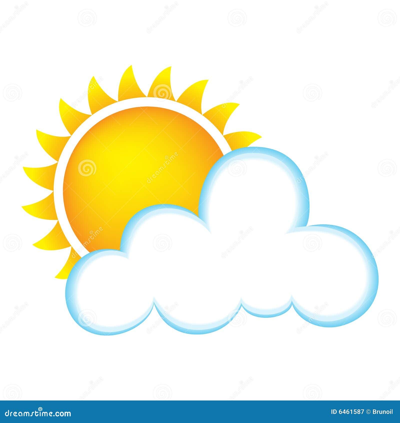 Słoneczny chmury
