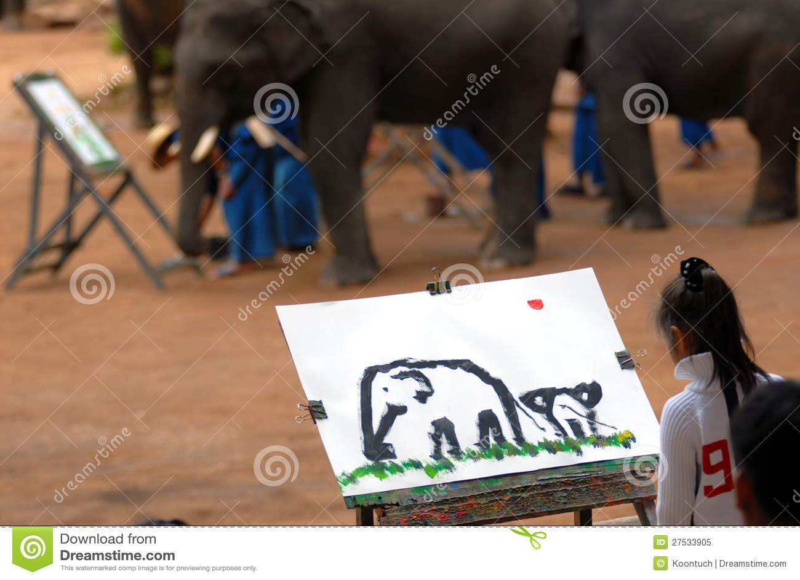 Słonia rysunek. [2]