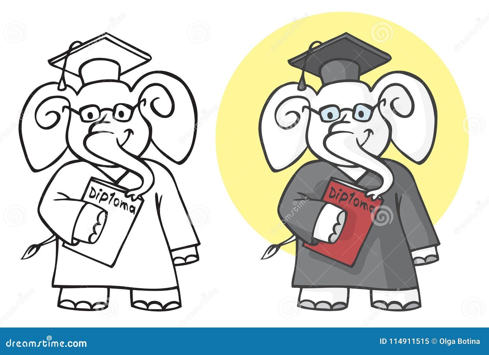Słonia uczeń z dyplomem