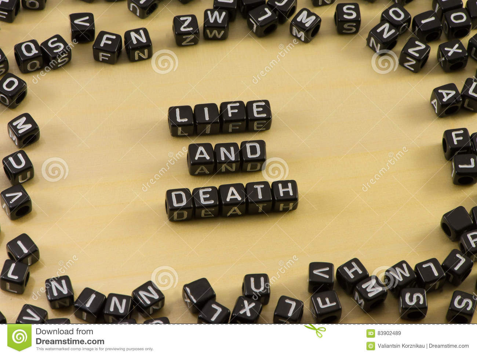 Słowa życie i śmierć