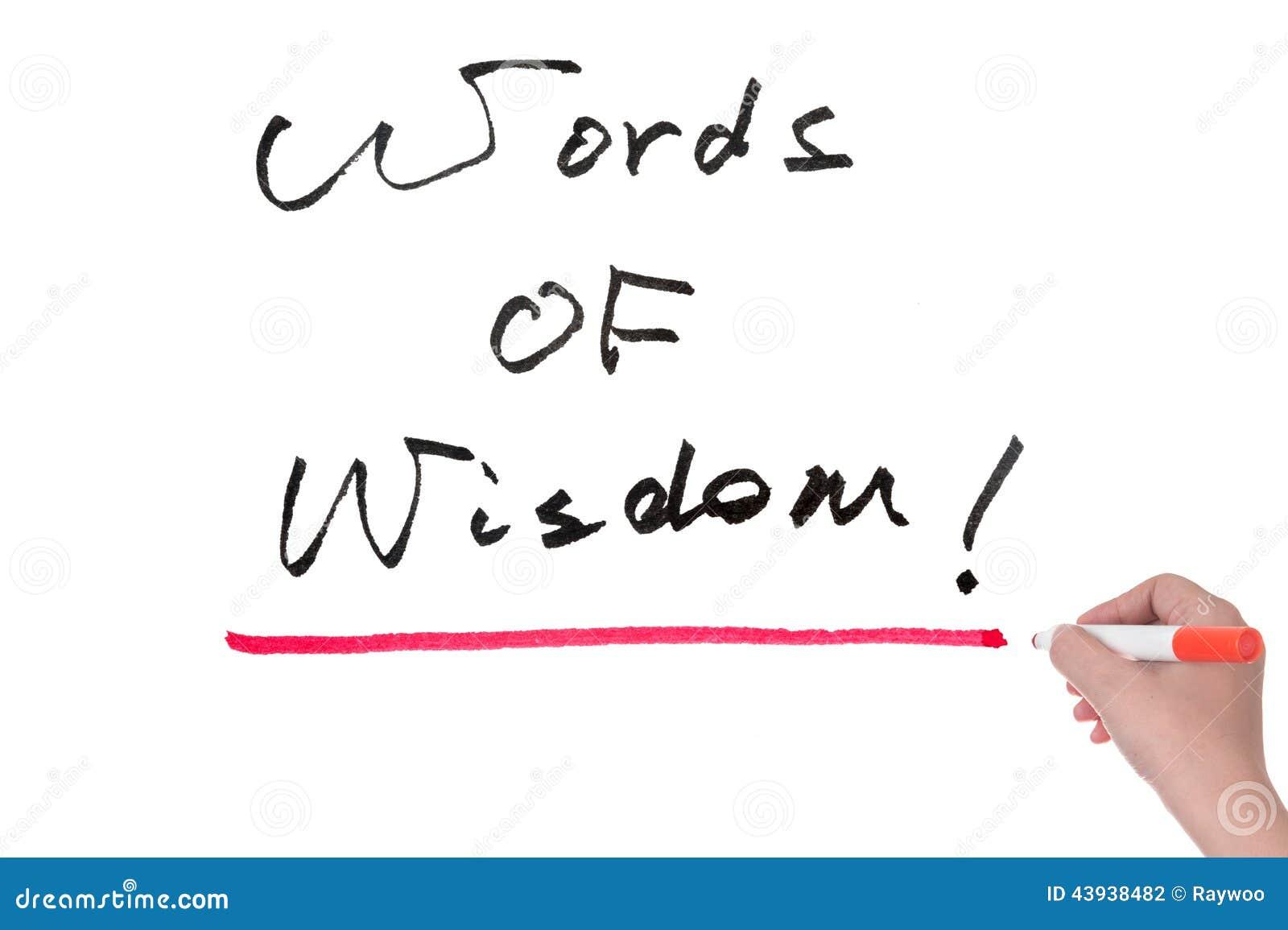 Słowa mądrość