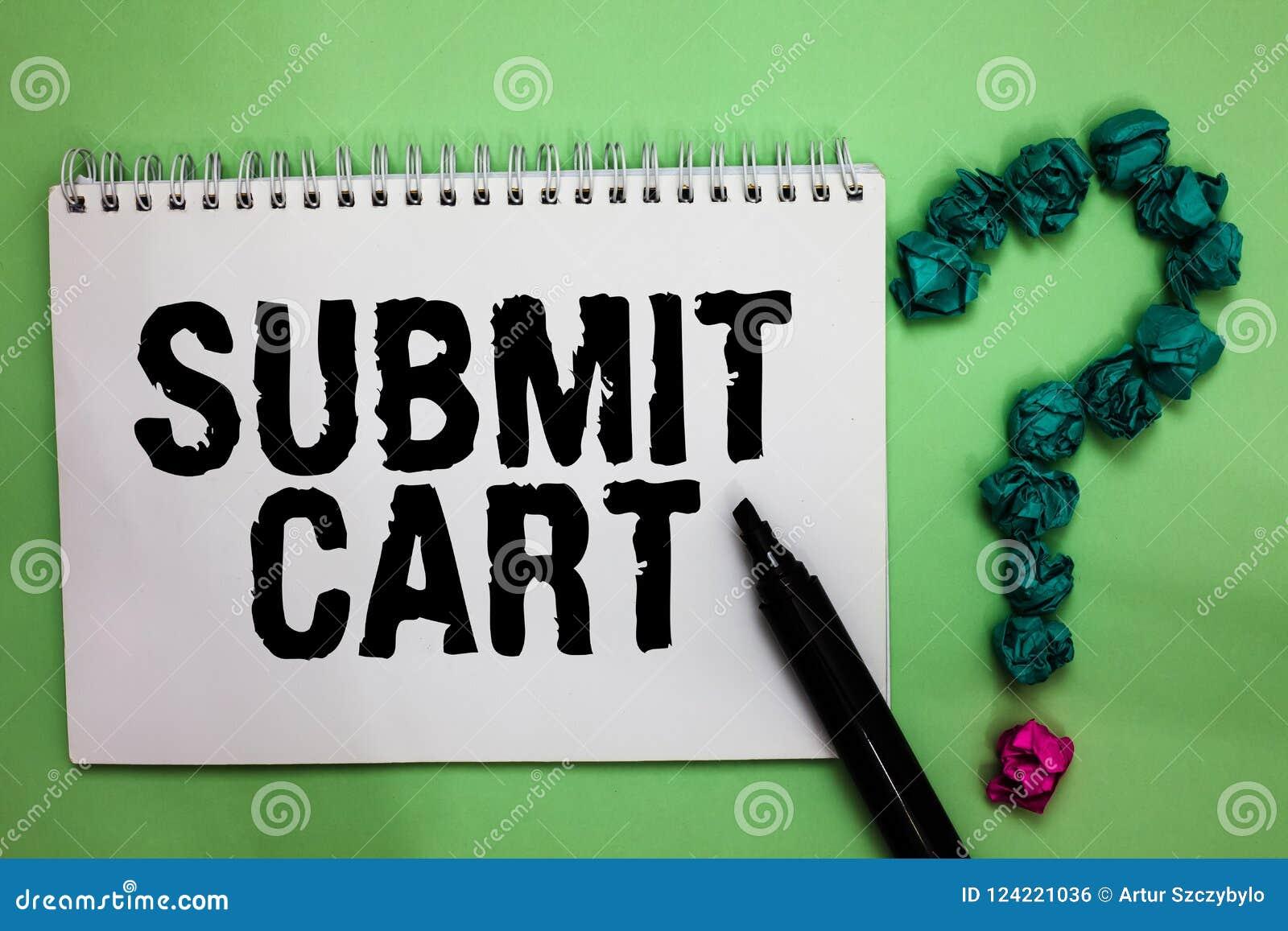Słowa writing tekst Przedkłada furę Biznesowy pojęcie dla Wysyłać listę zakupów online rzeczy Przechodzi kasa notatnika markiera