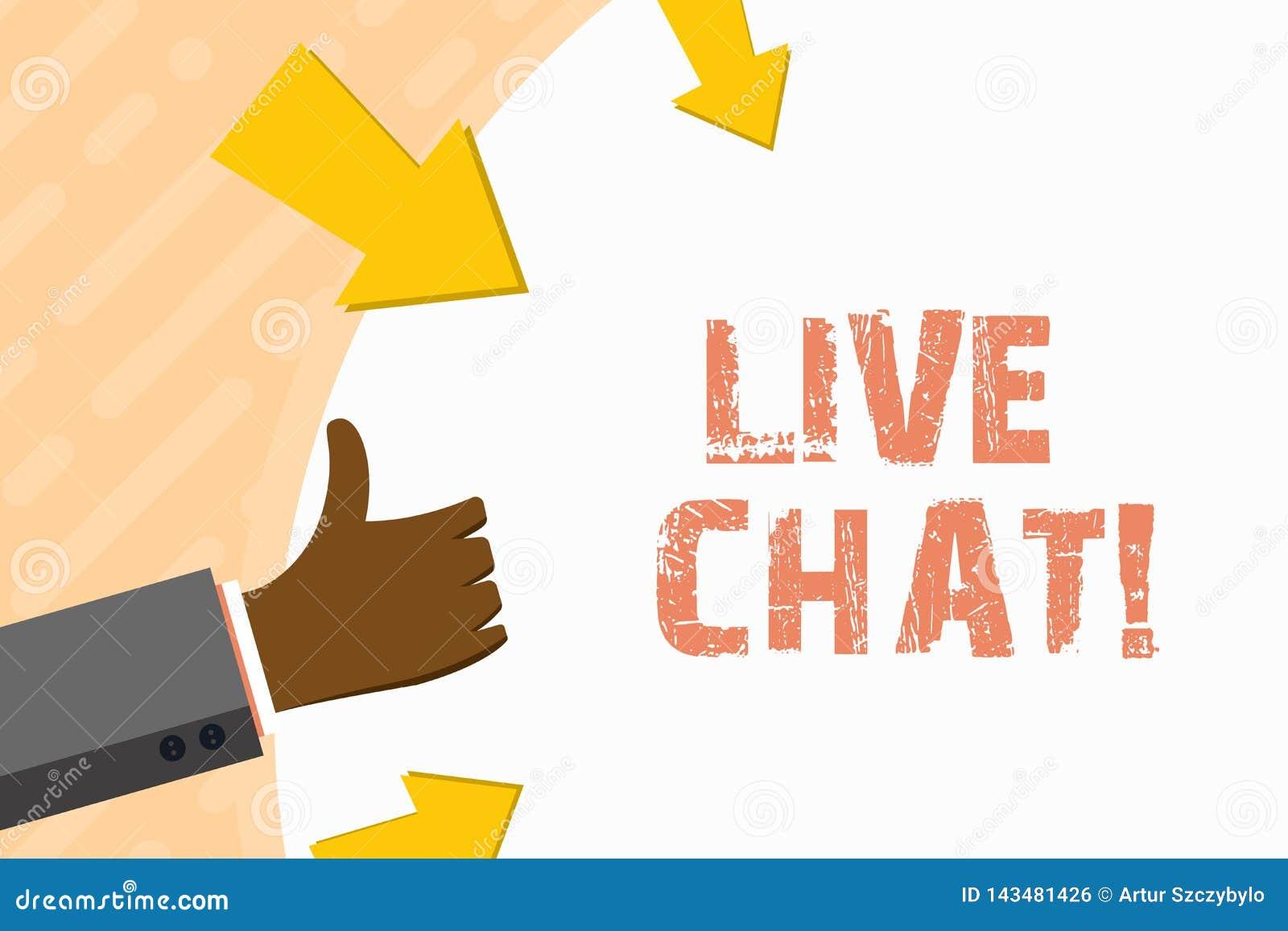 Słowa writing teksta Żywa gadka Biznesowy pojęcie dla sieci usługi która pozwoli biznesy lub przyjaciół komunikować rękę
