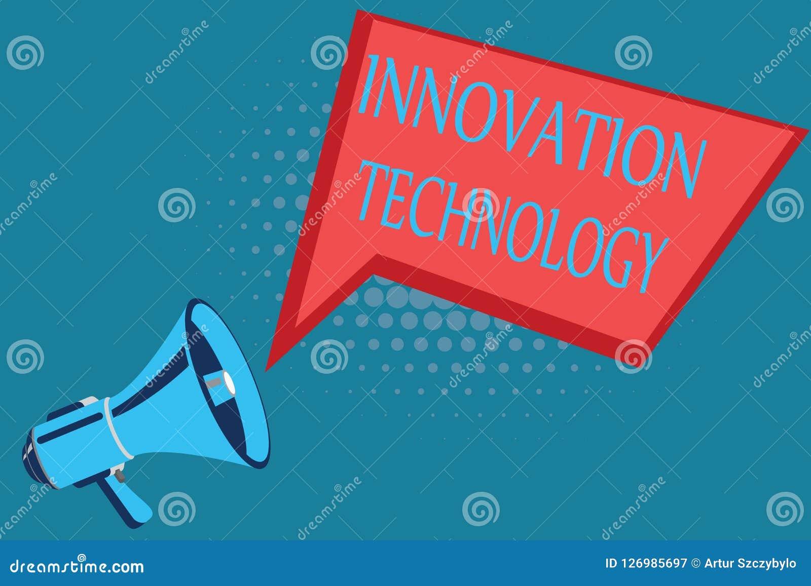 Słowa writing teksta innowaci technologia Biznesowy pojęcie dla Nowego pomysłu lub metody natura Techniczna lub Naukowa