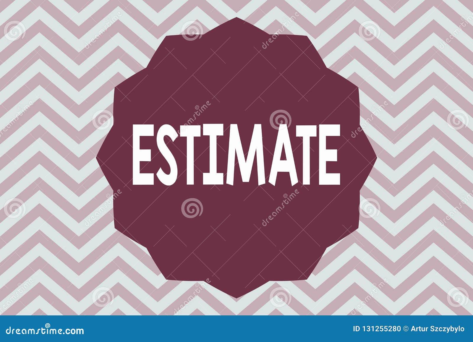 Słowa writing teksta kosztorys Biznesowy pojęcie dla z grubsza kalkuluje sędzia wartości liczby iloczasowego zakres coś