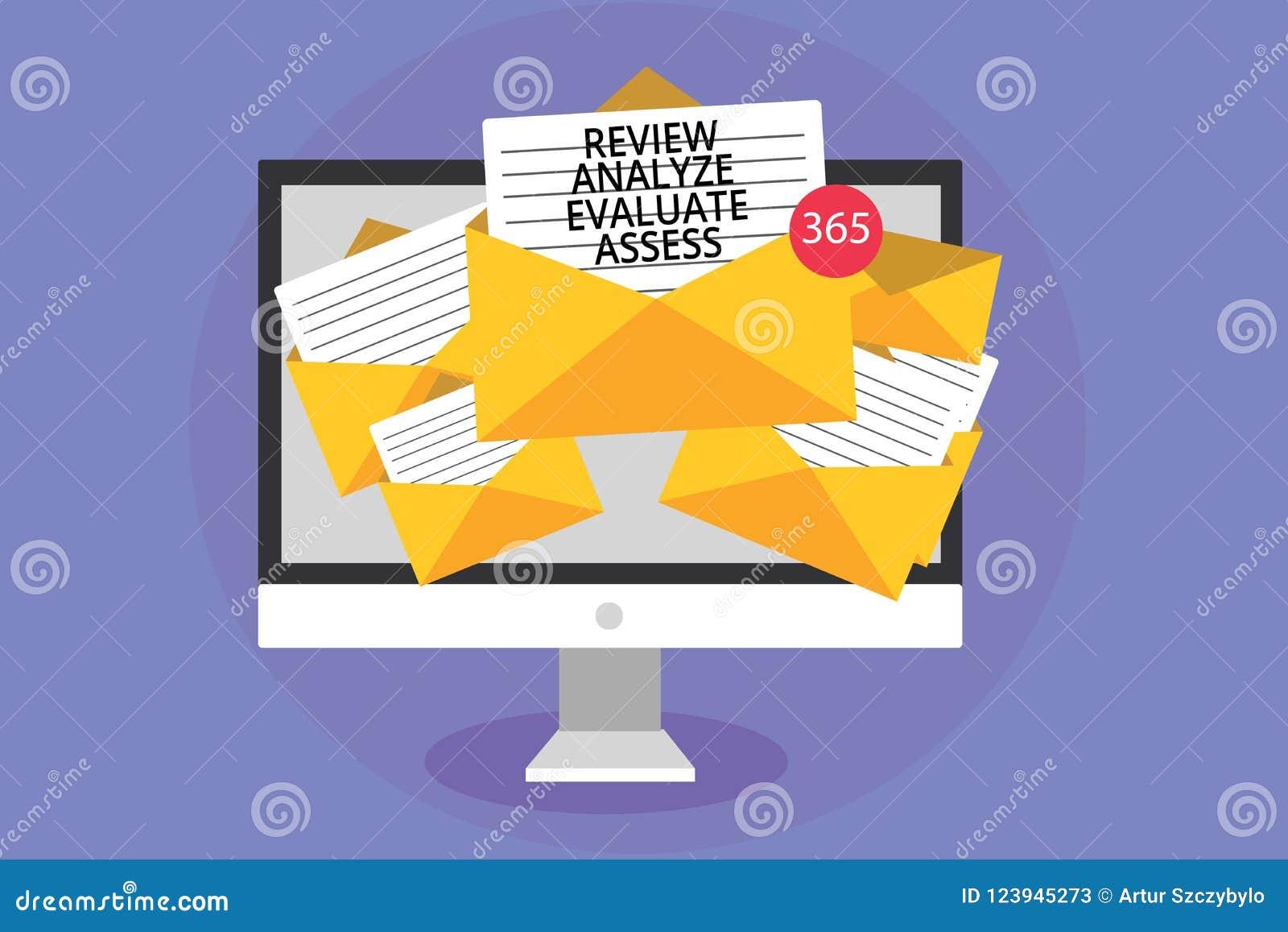 Słowa writing teksta przegląd Analizuje Ocenia Ocenia Biznesowy pojęcie dla cenienia występ informacje zwrotne proces komputeru r