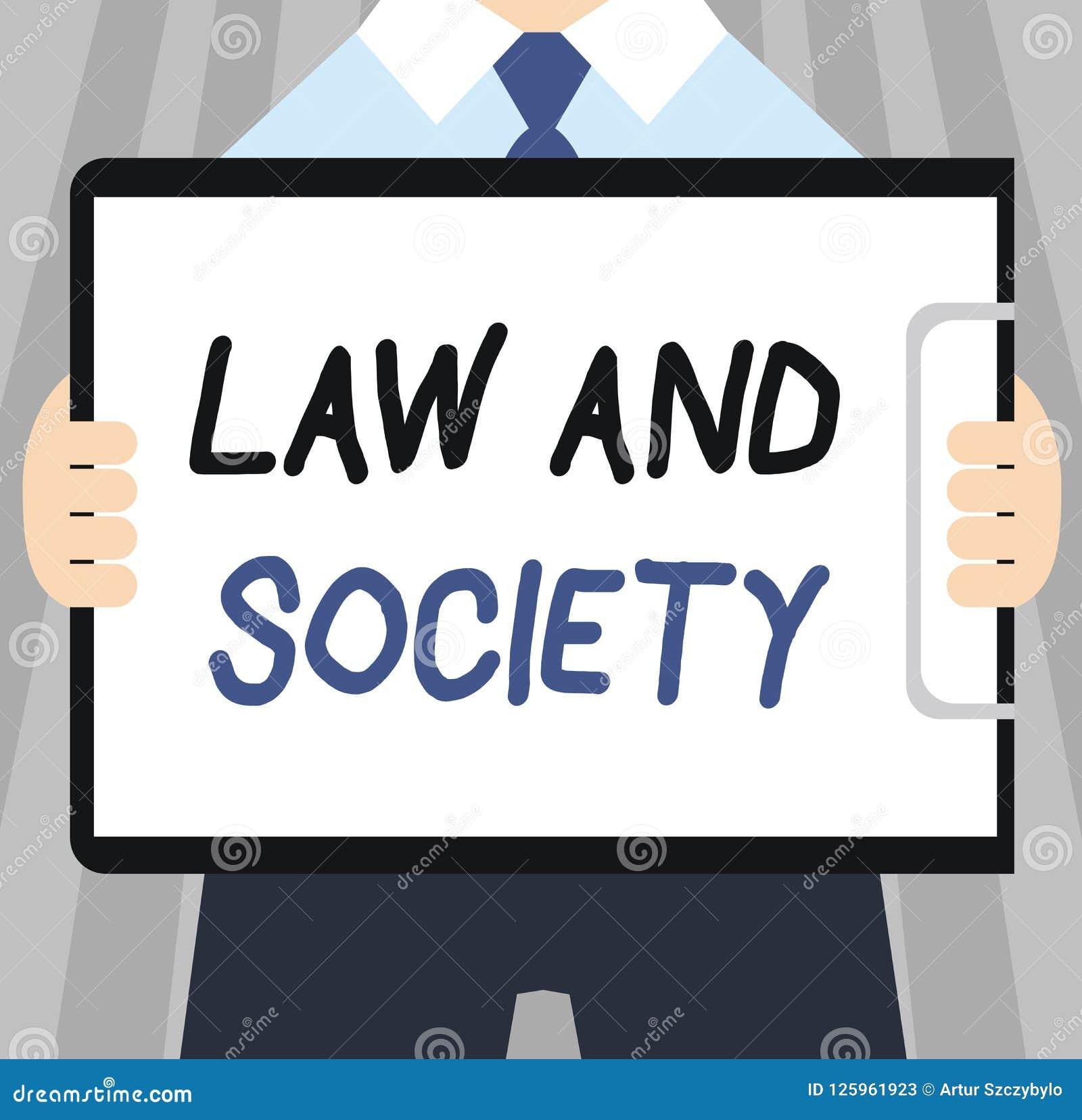 Słowa writing teksta społeczeństwo I prawo Biznesowy pojęcie dla adresu wspólny związek między prawem i społeczeństwem