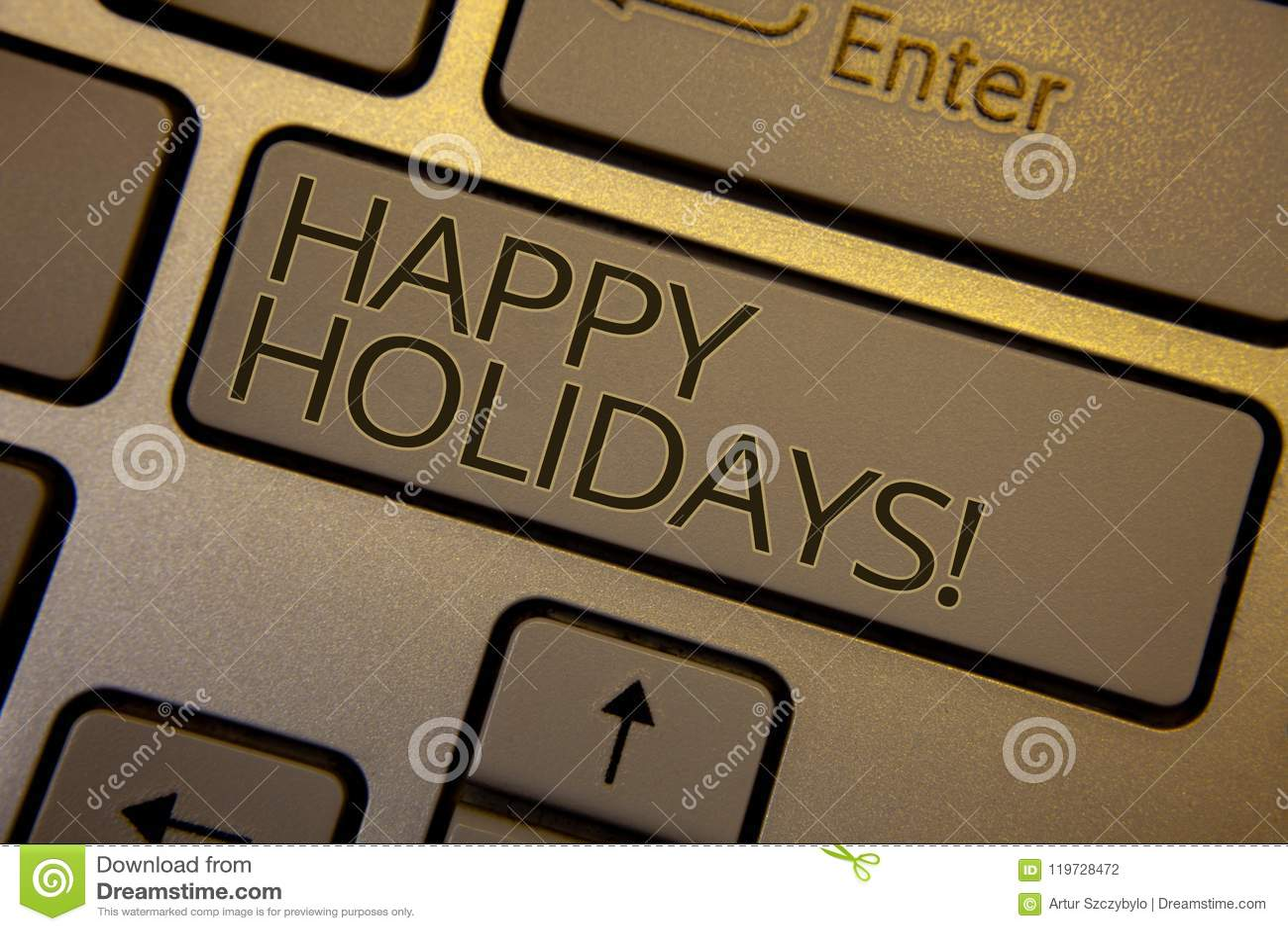 Słowa writing teksta Szczęśliwych wakacji Motywacyjny wezwanie Biznesowy pojęcie dla powitania Świętuje Świątecznych dni brązu kl