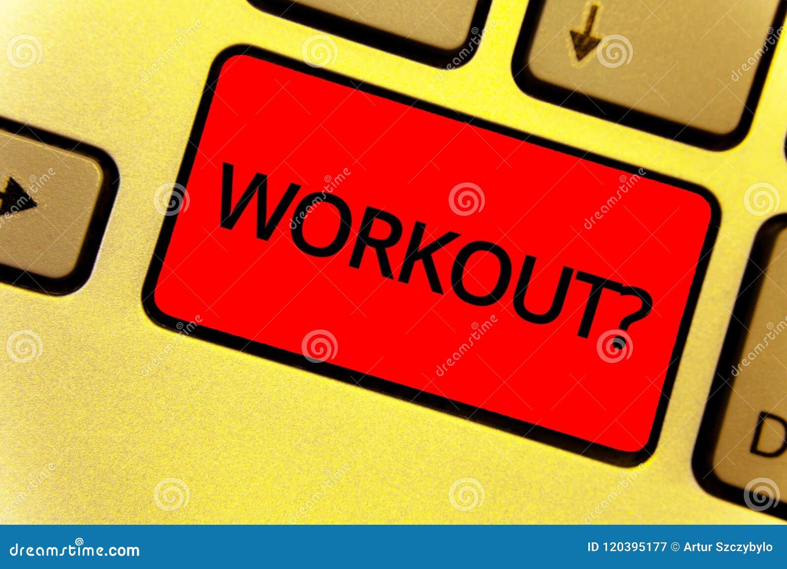 Słowa writing teksta treningu pytanie Biznesowy pojęcie dla aktywności dla wellness bodybuilding szkolenia ćwiczy Klawiaturowego