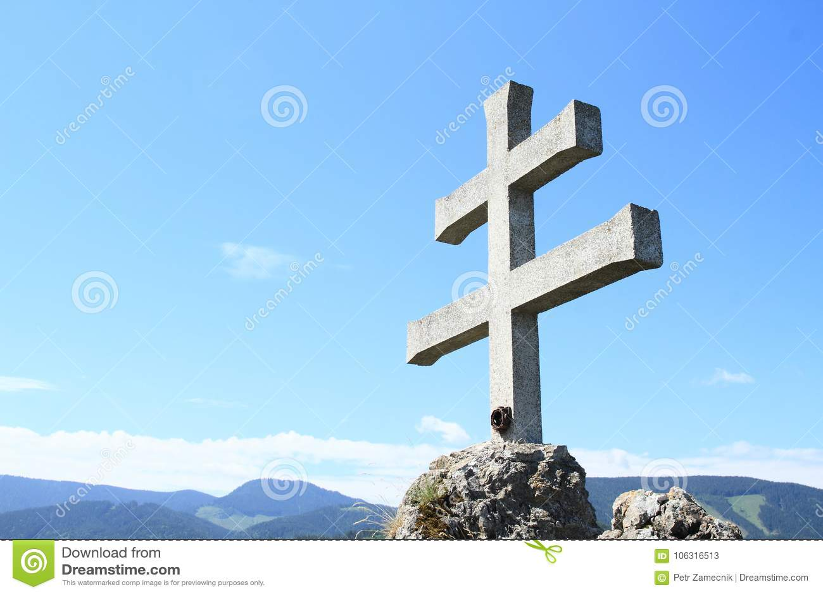 Słowaka krzyż na Rockery Liptovsky Hradok