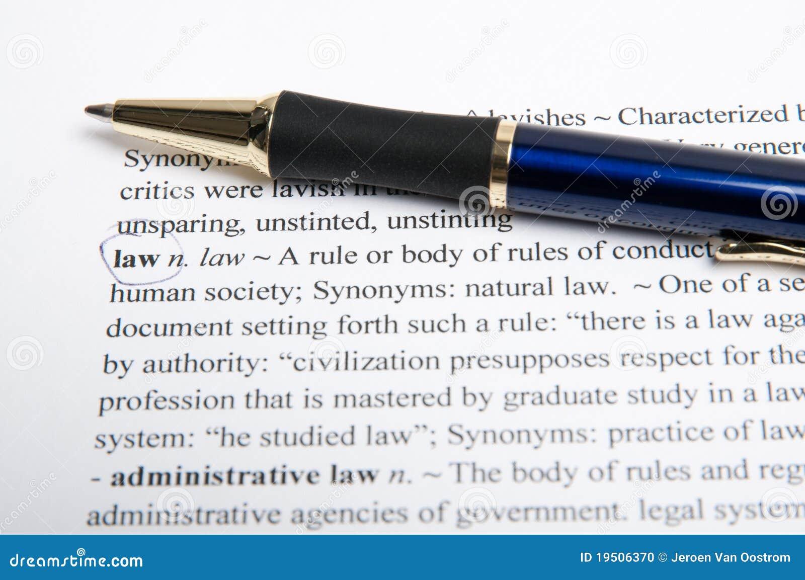 Słownika prawa przekład