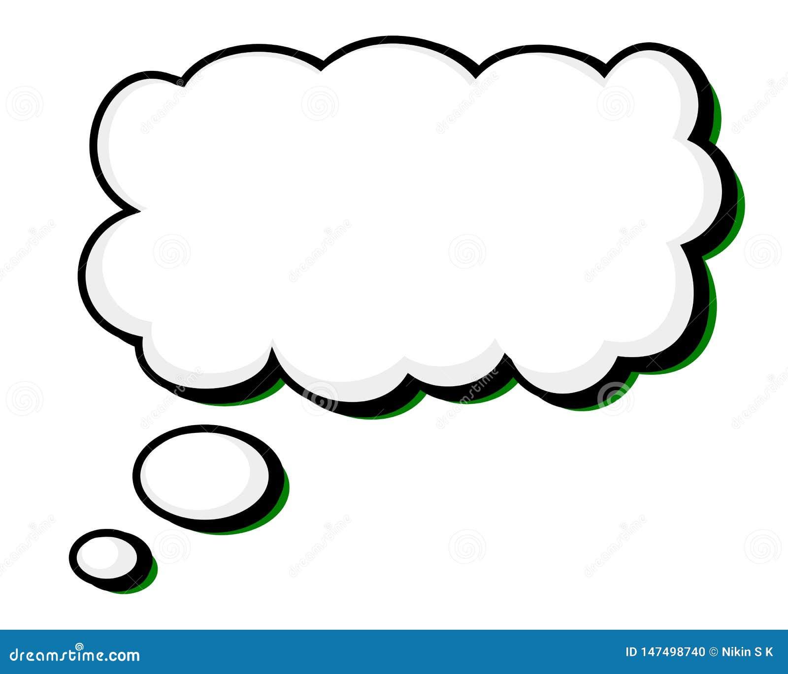 Słowo balon z Stałą Czarną kontur zieleni główną atrakcją